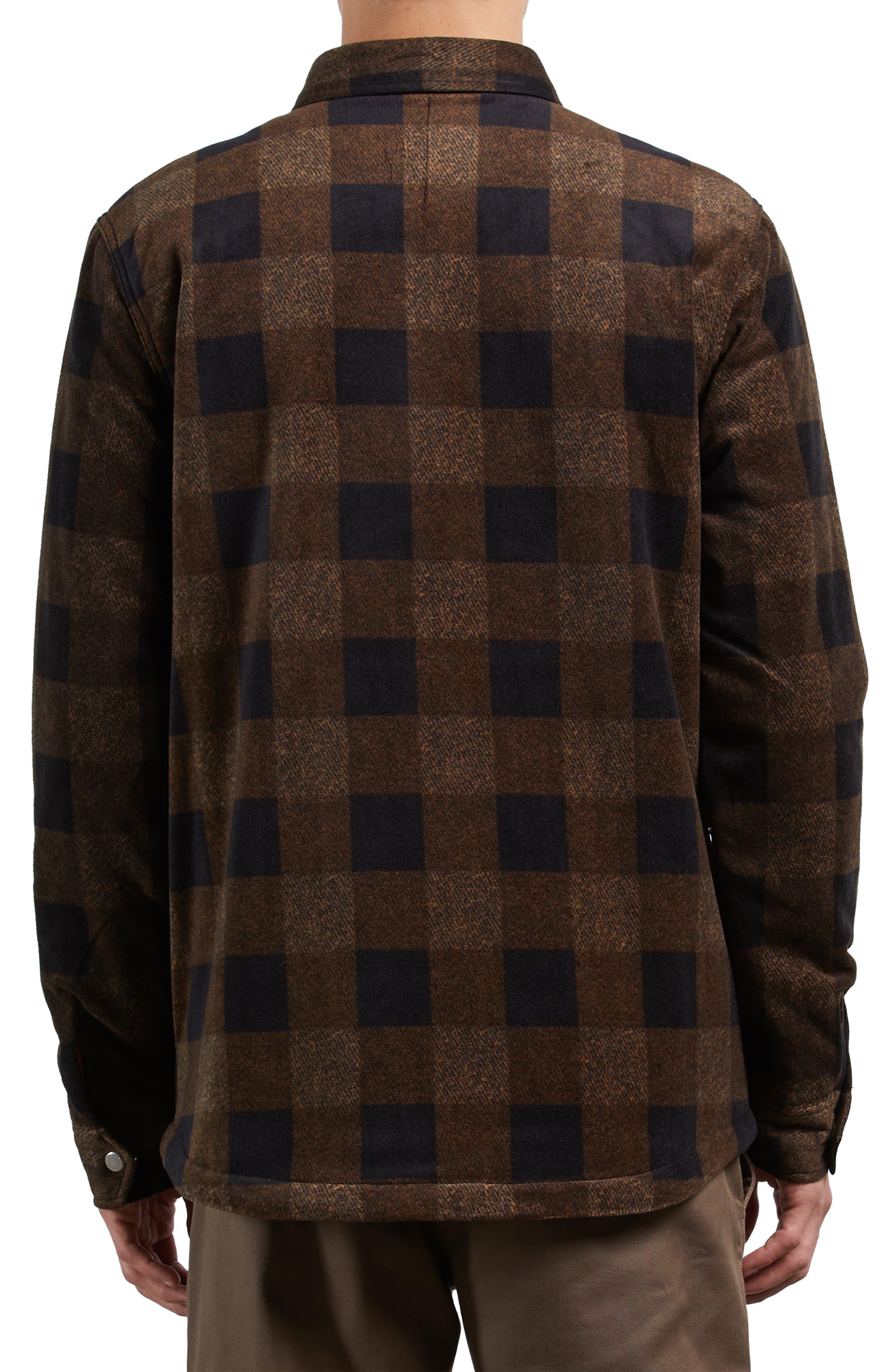 Bower Check Print Fleece Jacket,                             Alternate thumbnail 2, color,                             800