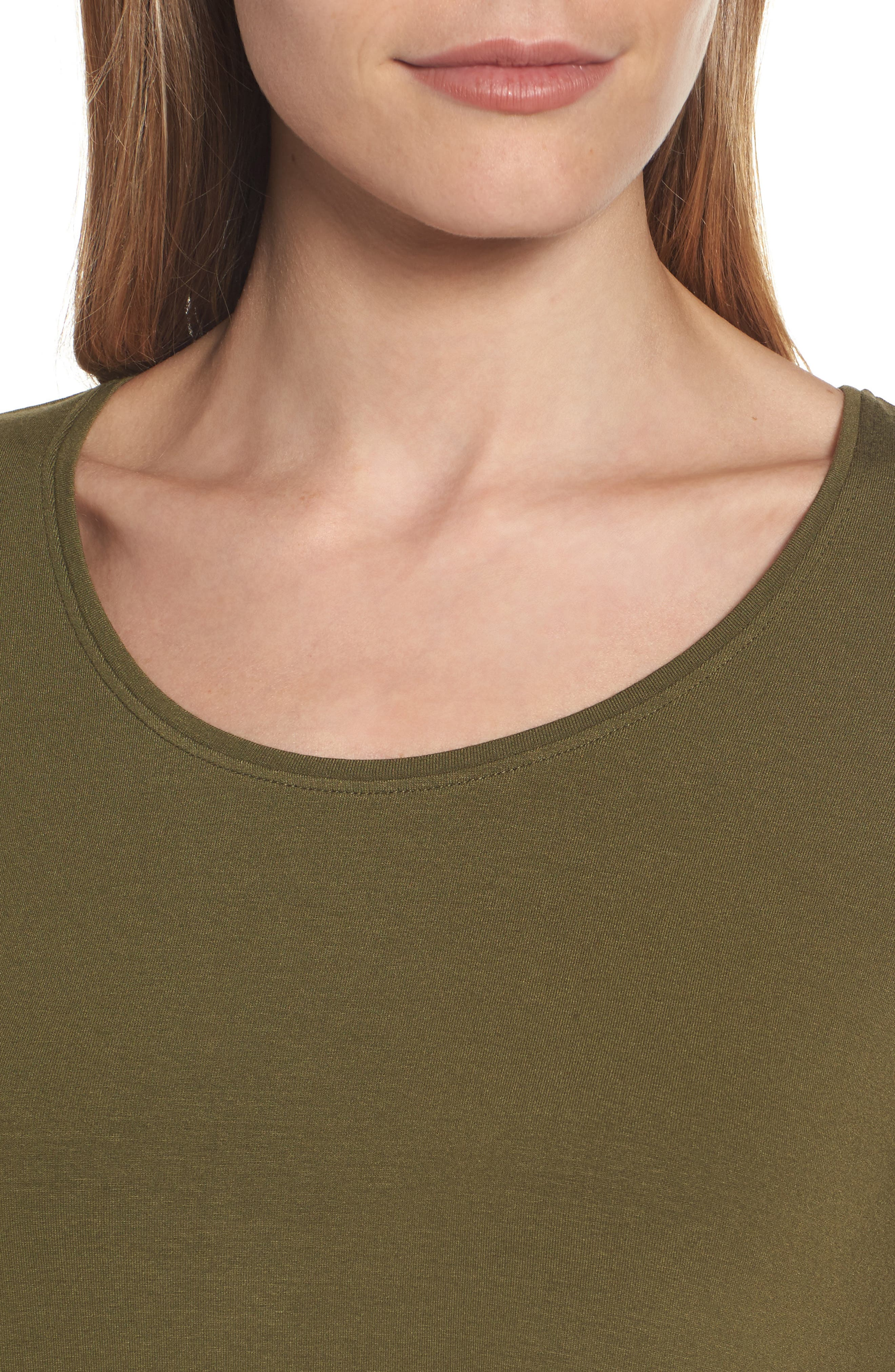 Scoop Neck Elbow Sleeve Jersey Tunic,                             Alternate thumbnail 51, color,