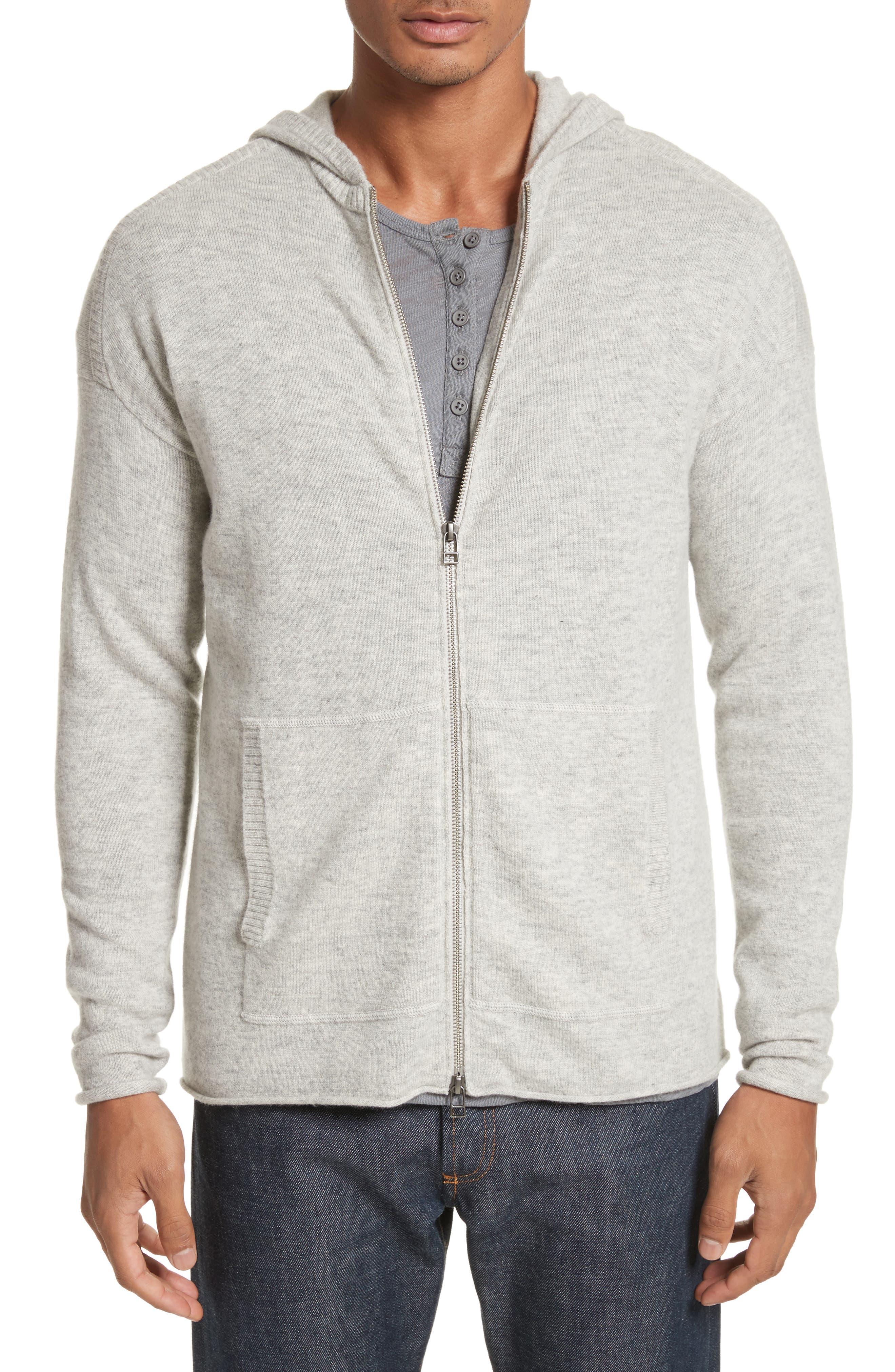 Wool & Cashmere Zip Hoodie,                         Main,                         color, 054