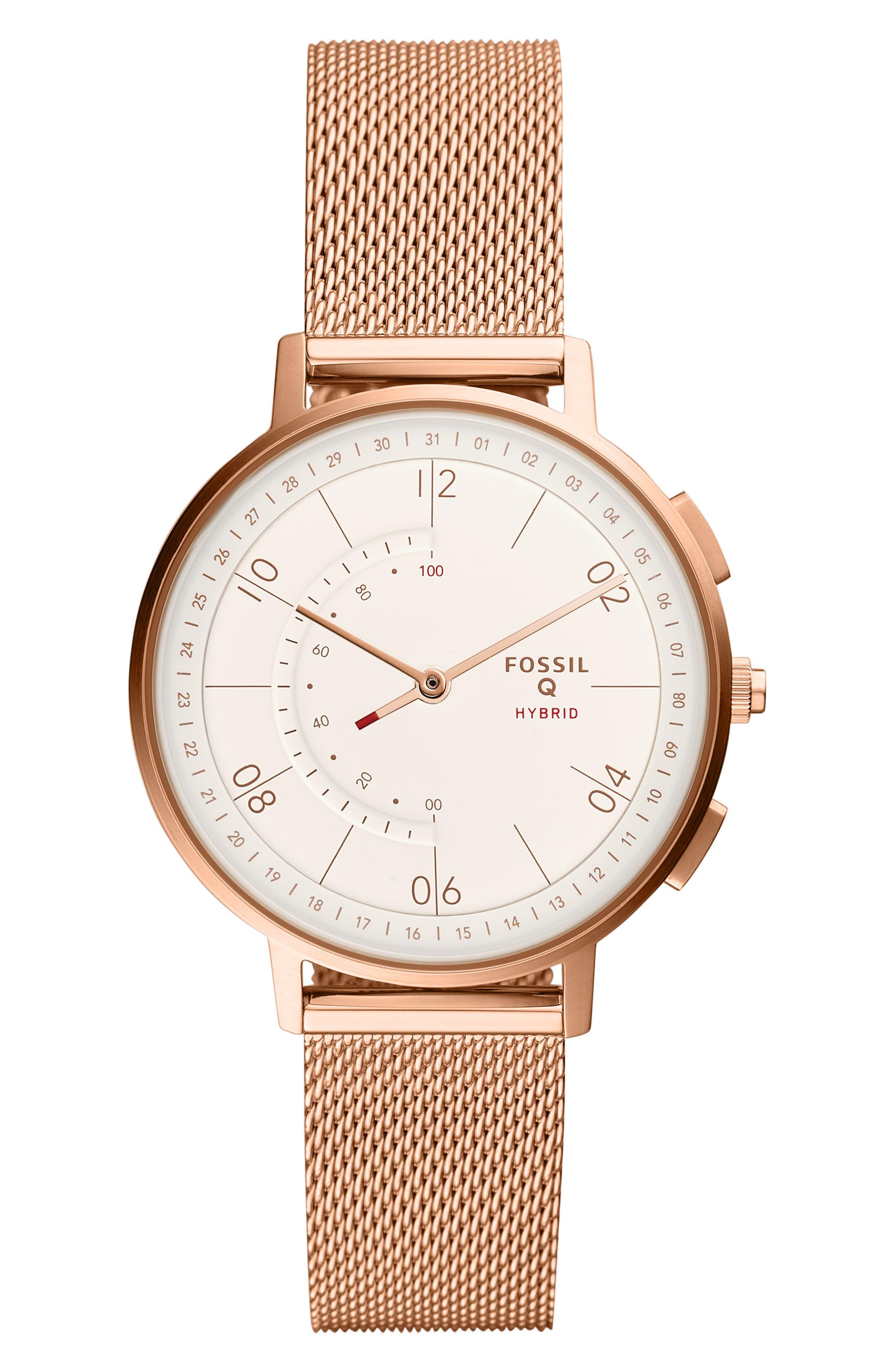 FOSSIL Q Harper Smart Watch, 37mm, Main, color, 710