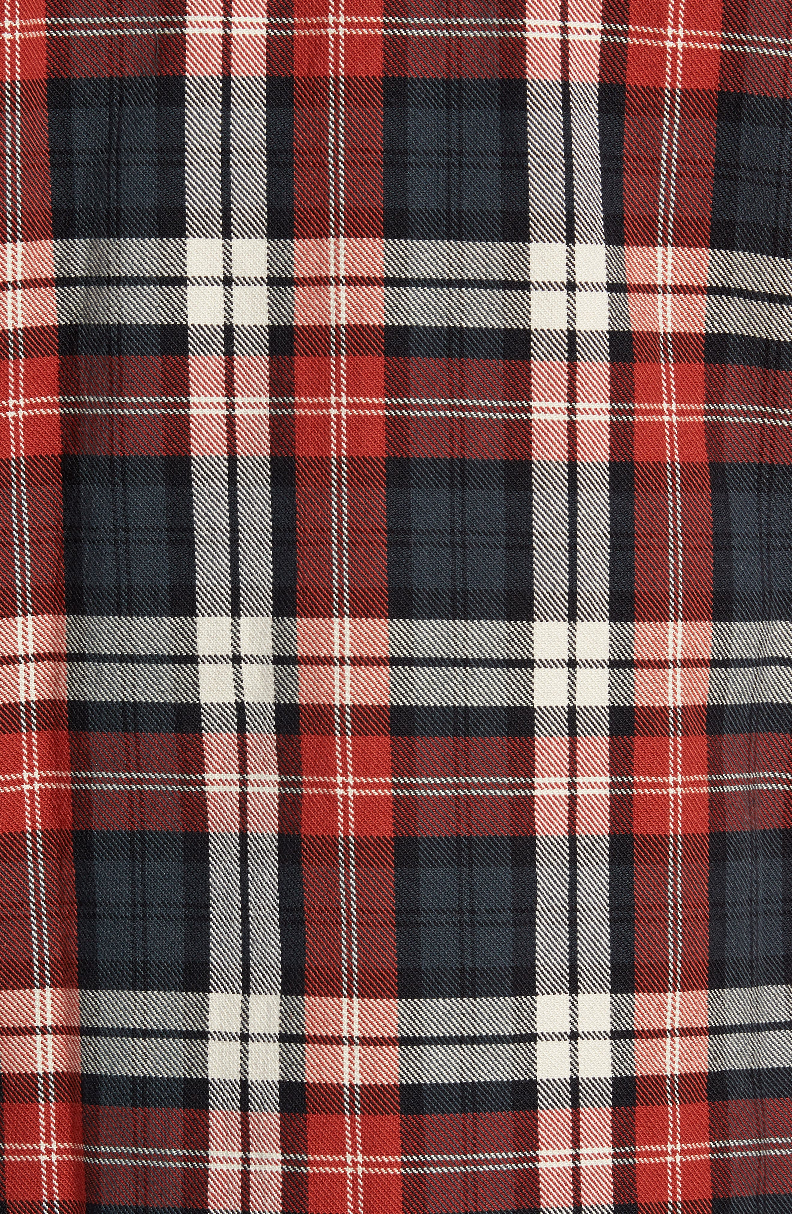 Puffy Classic Fit Work Shirt,                             Alternate thumbnail 6, color,                             RED PLAID