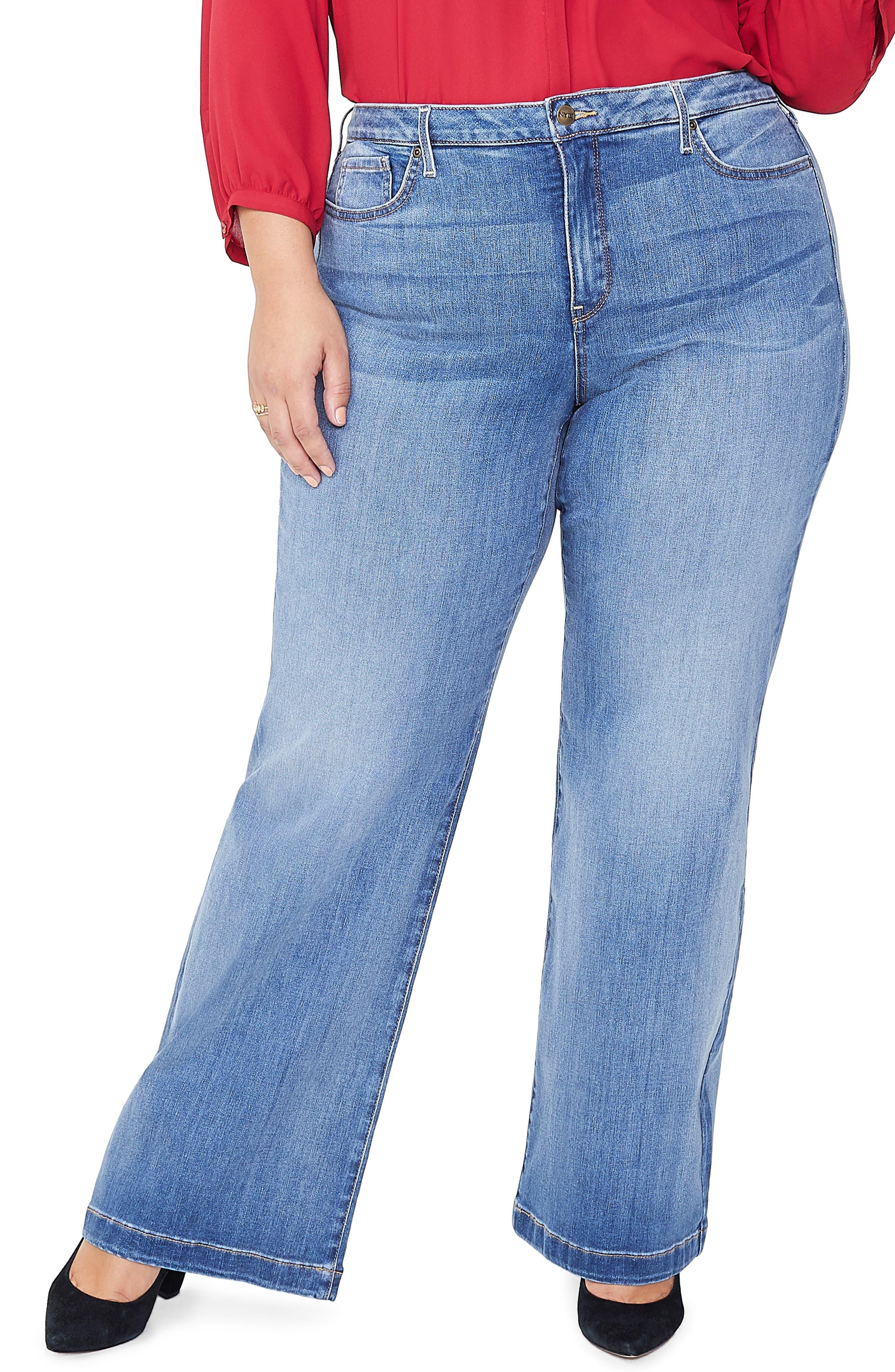 Wide Leg Jeans, Main, color, CLEAN CABRILLO