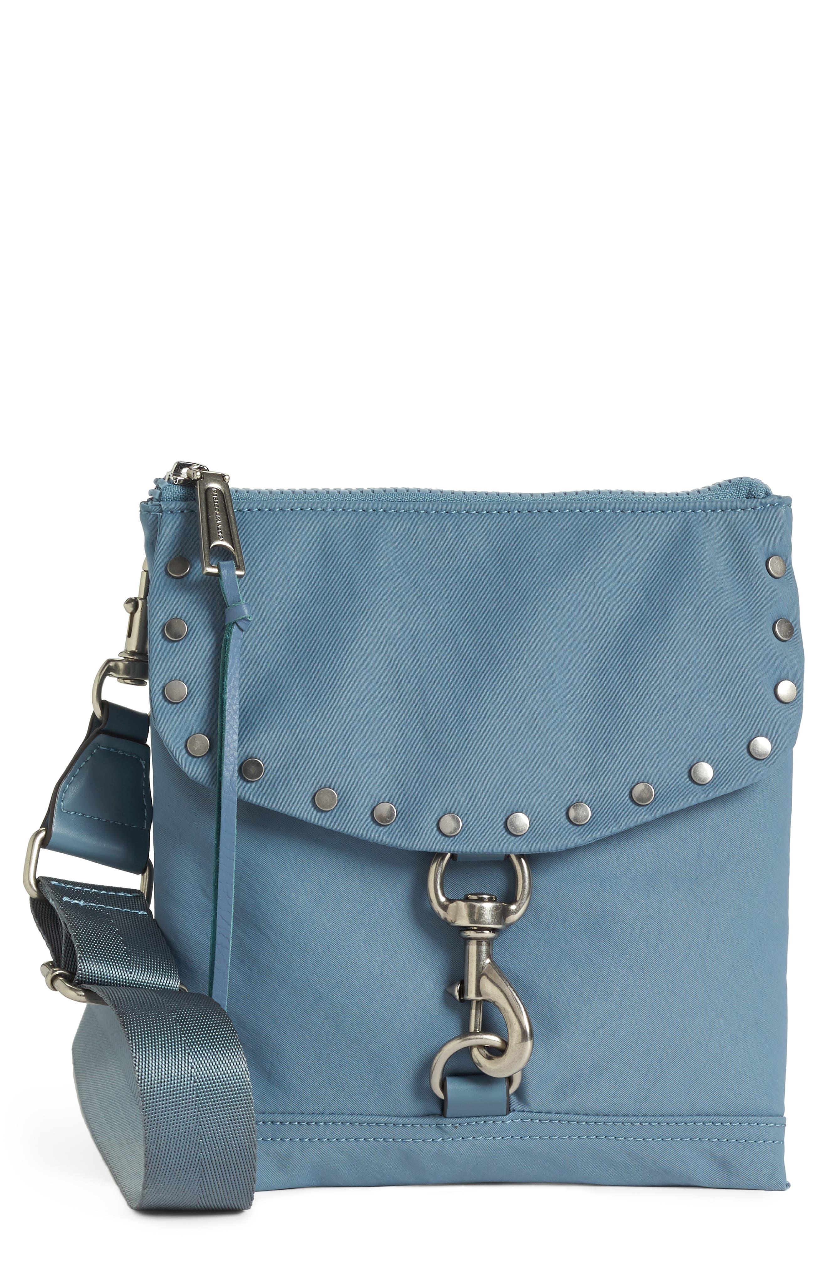 Nylon Flap Crossbody Bag,                             Main thumbnail 4, color,