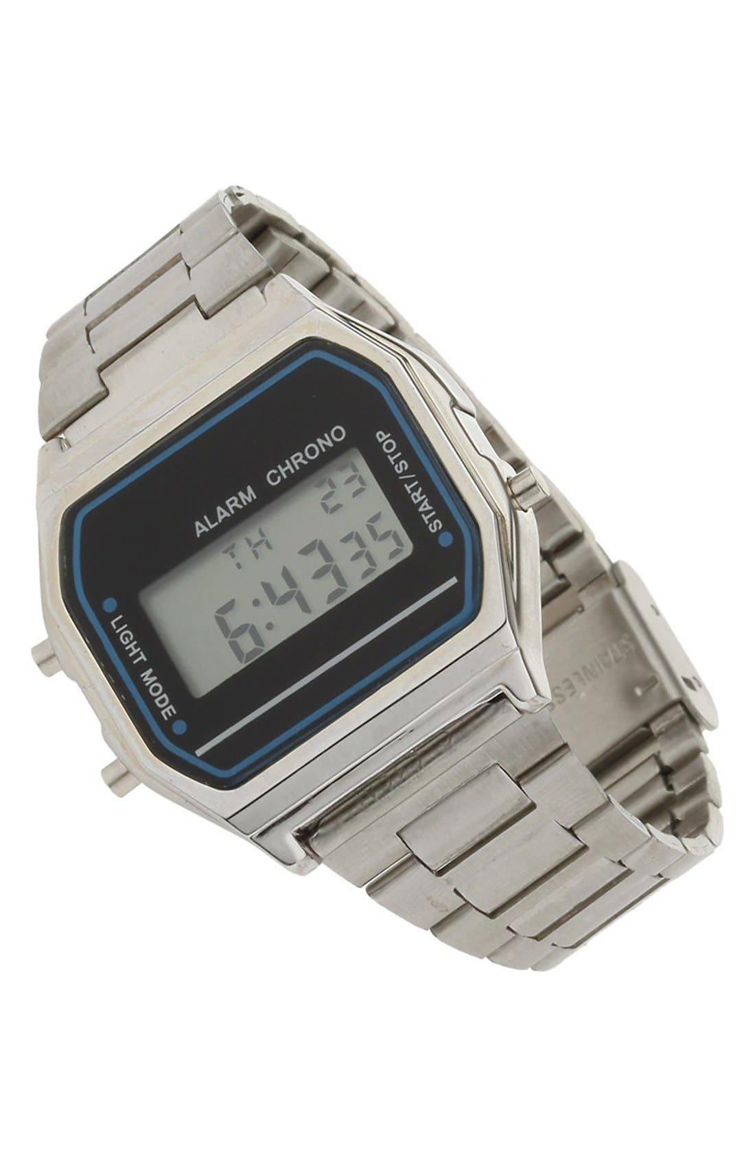Digital Bracelet Watch, 30mm,                             Main thumbnail 1, color,                             040