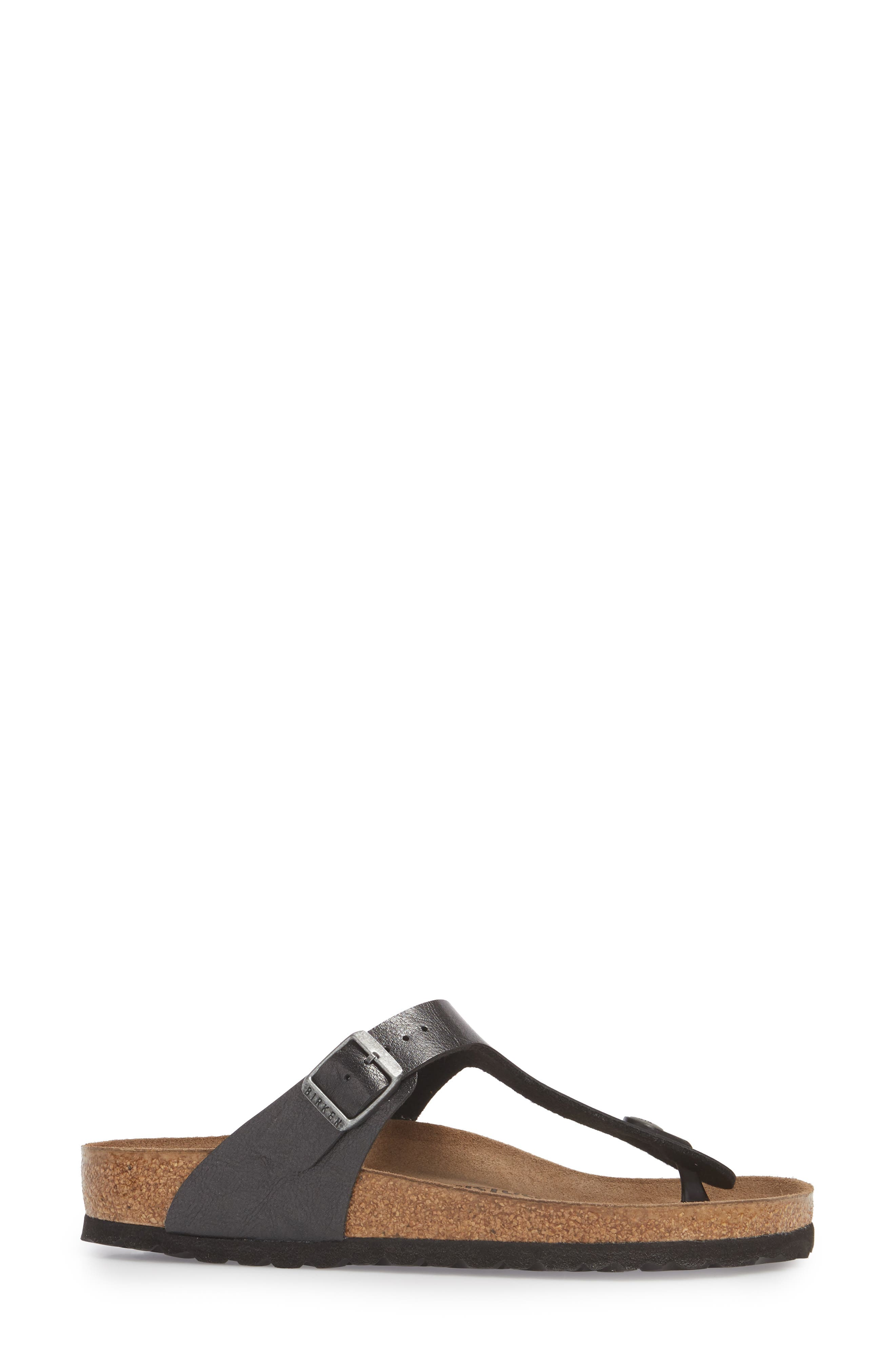 BIRKENSTOCK,                             Gizeh Birko-Flor<sup>™</sup> Thong,                             Alternate thumbnail 3, color,                             LICORICE