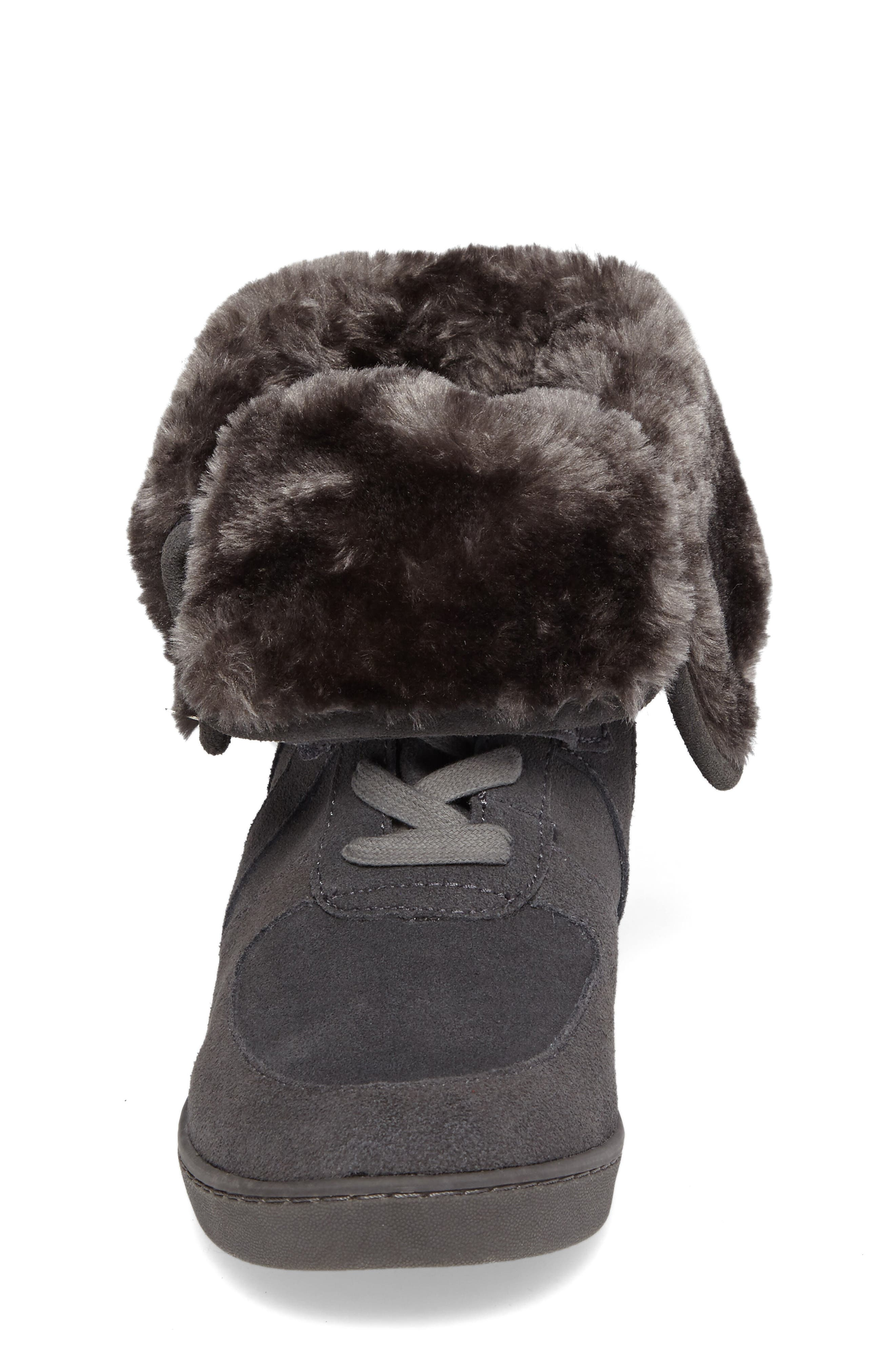 Boogie Beaver Faux Fur Cuffed Bootie,                             Alternate thumbnail 4, color,                             052