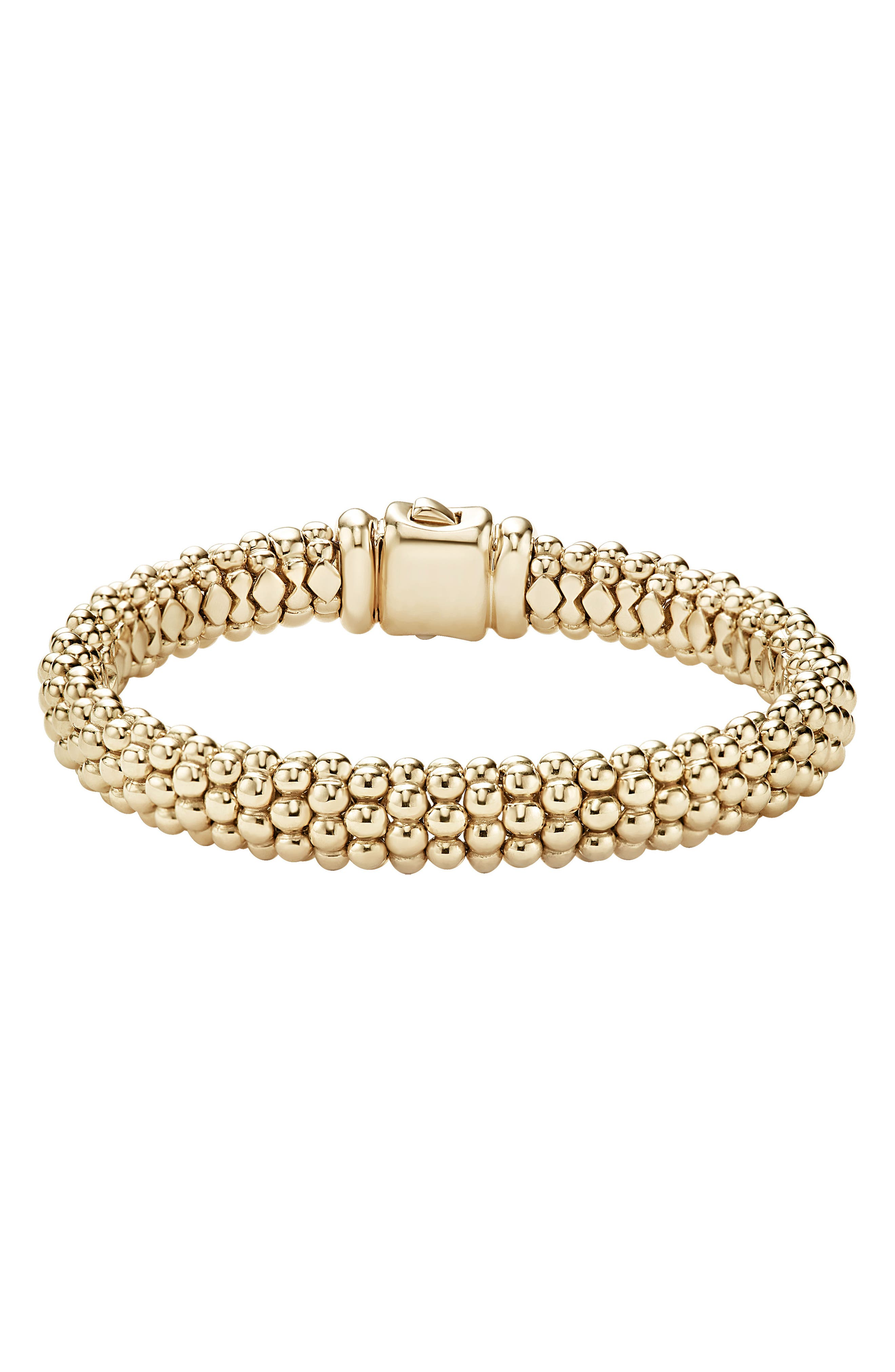 'Caviar Gold' Rope Bracelet,                             Alternate thumbnail 4, color,                             GOLD