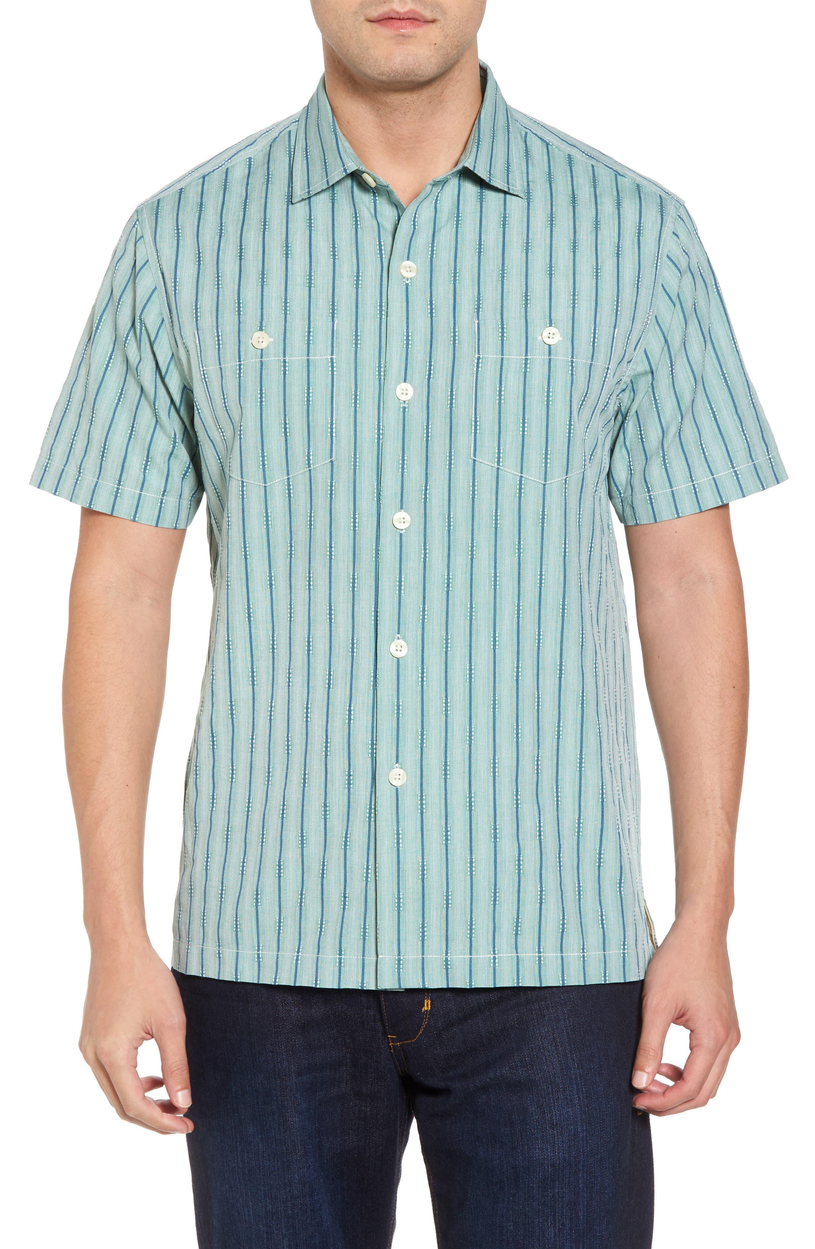 Florida Geometric Line Silk Blend Camp Shirt,                             Main thumbnail 1, color,                             300