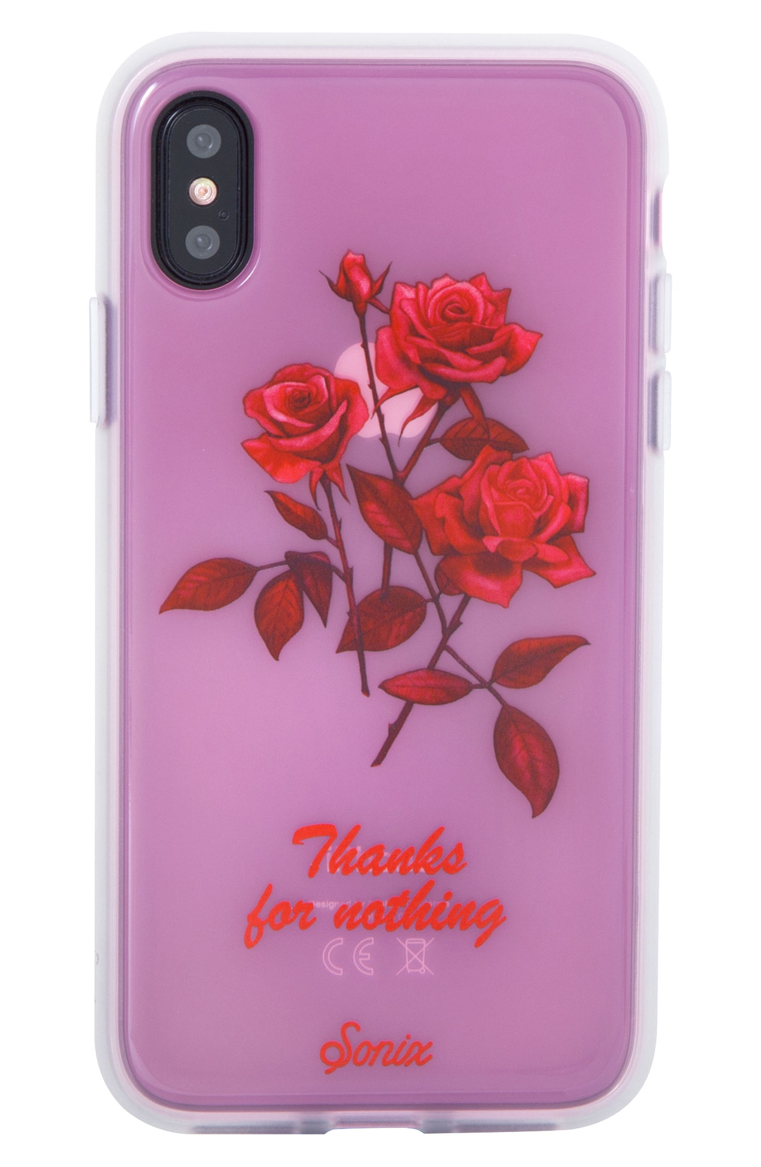 Thanks for Nothing iPhone X & Xs Case,                             Main thumbnail 1, color,                             650