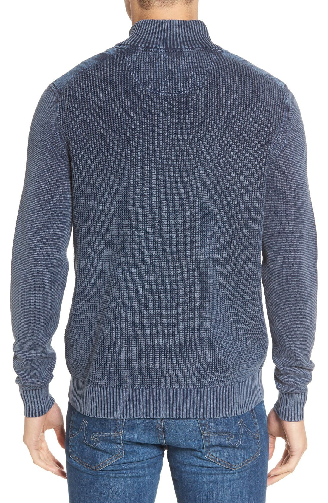 'Coastal Shores' Quarter Zip Sweater,                             Alternate thumbnail 18, color,