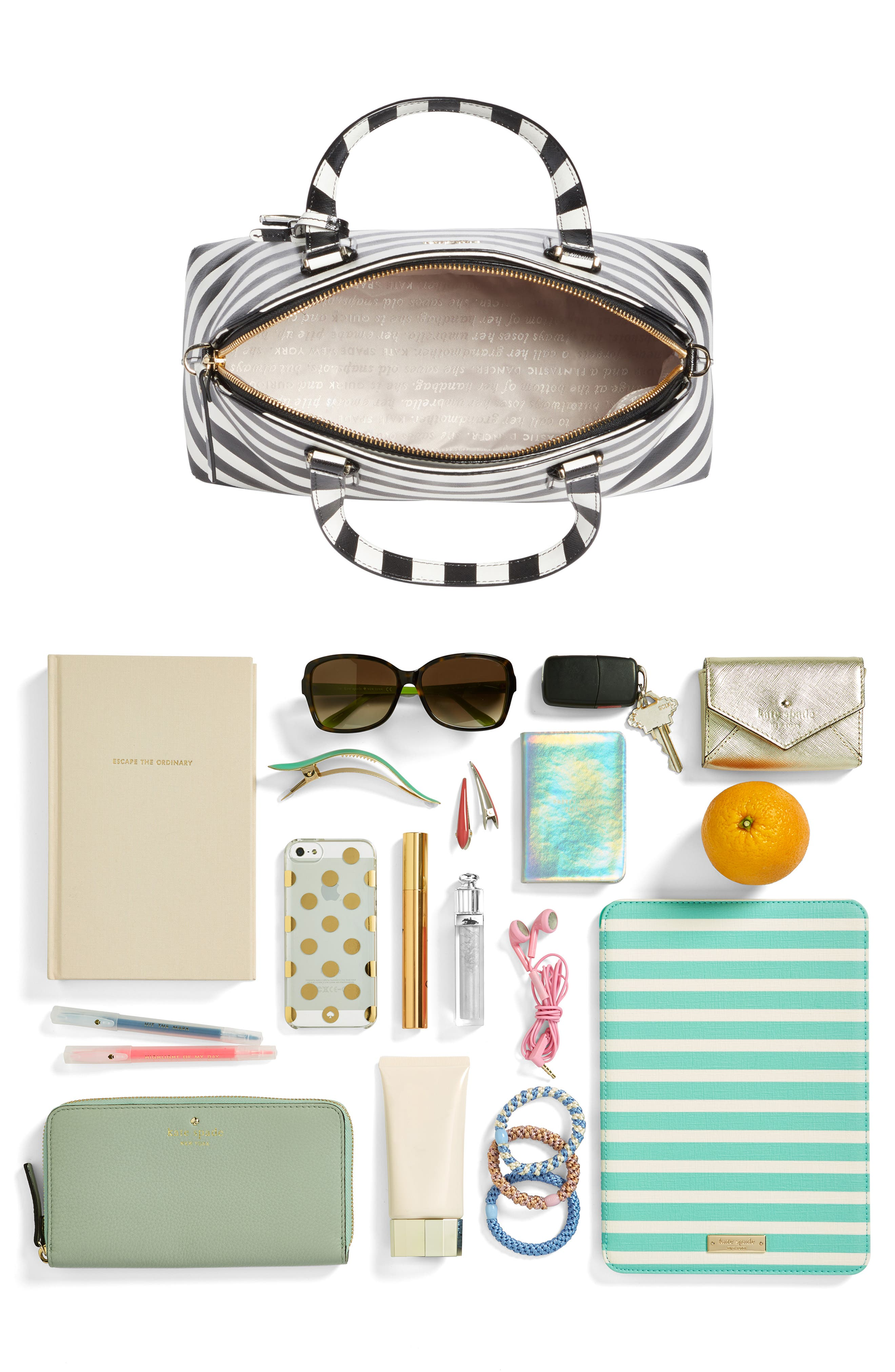 cameron street - lottie stripe satchel,                             Alternate thumbnail 7, color,