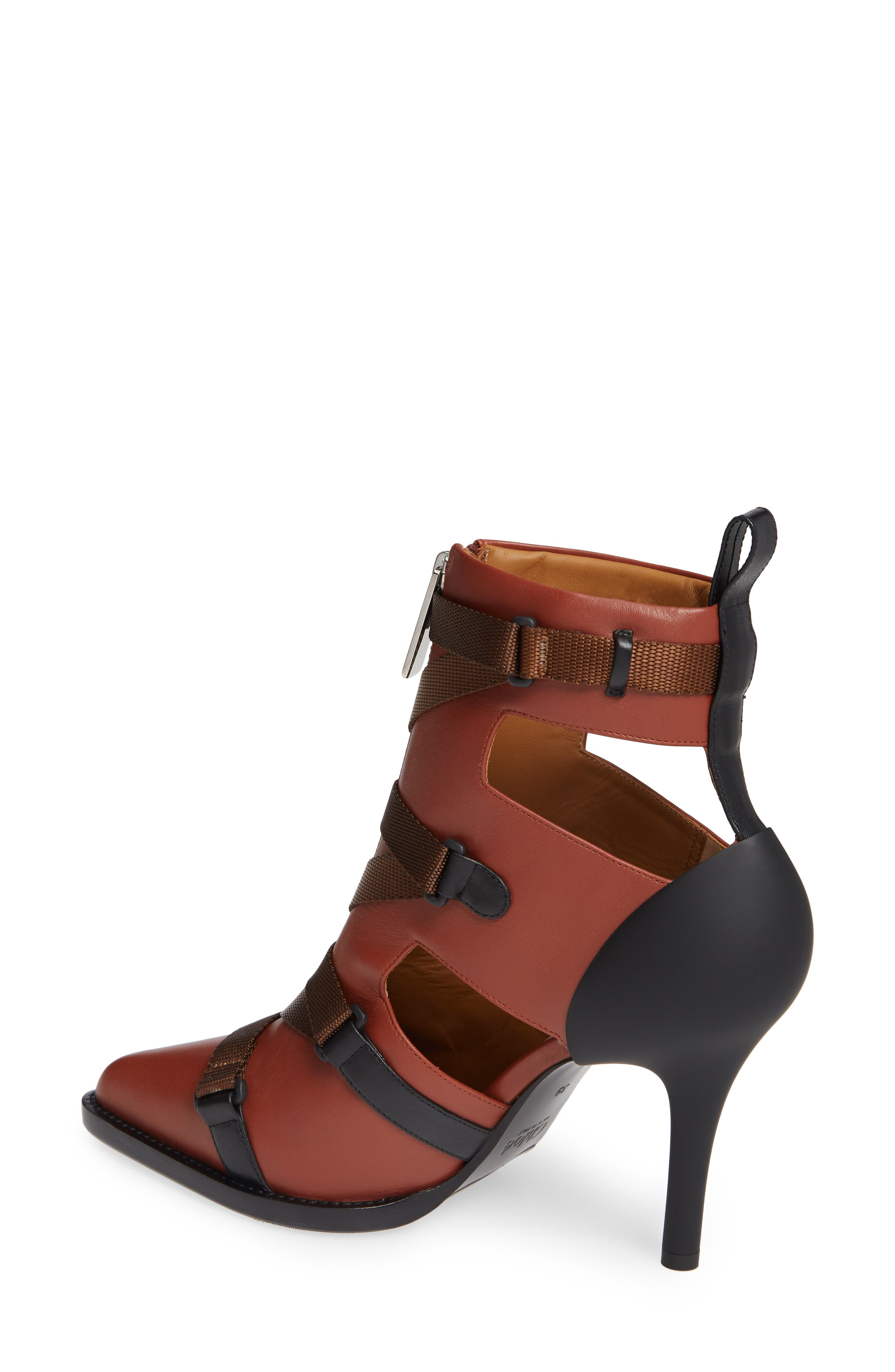 Tracy Strap Cutout Bootie,                             Alternate thumbnail 2, color,                             SEPIA BROWN