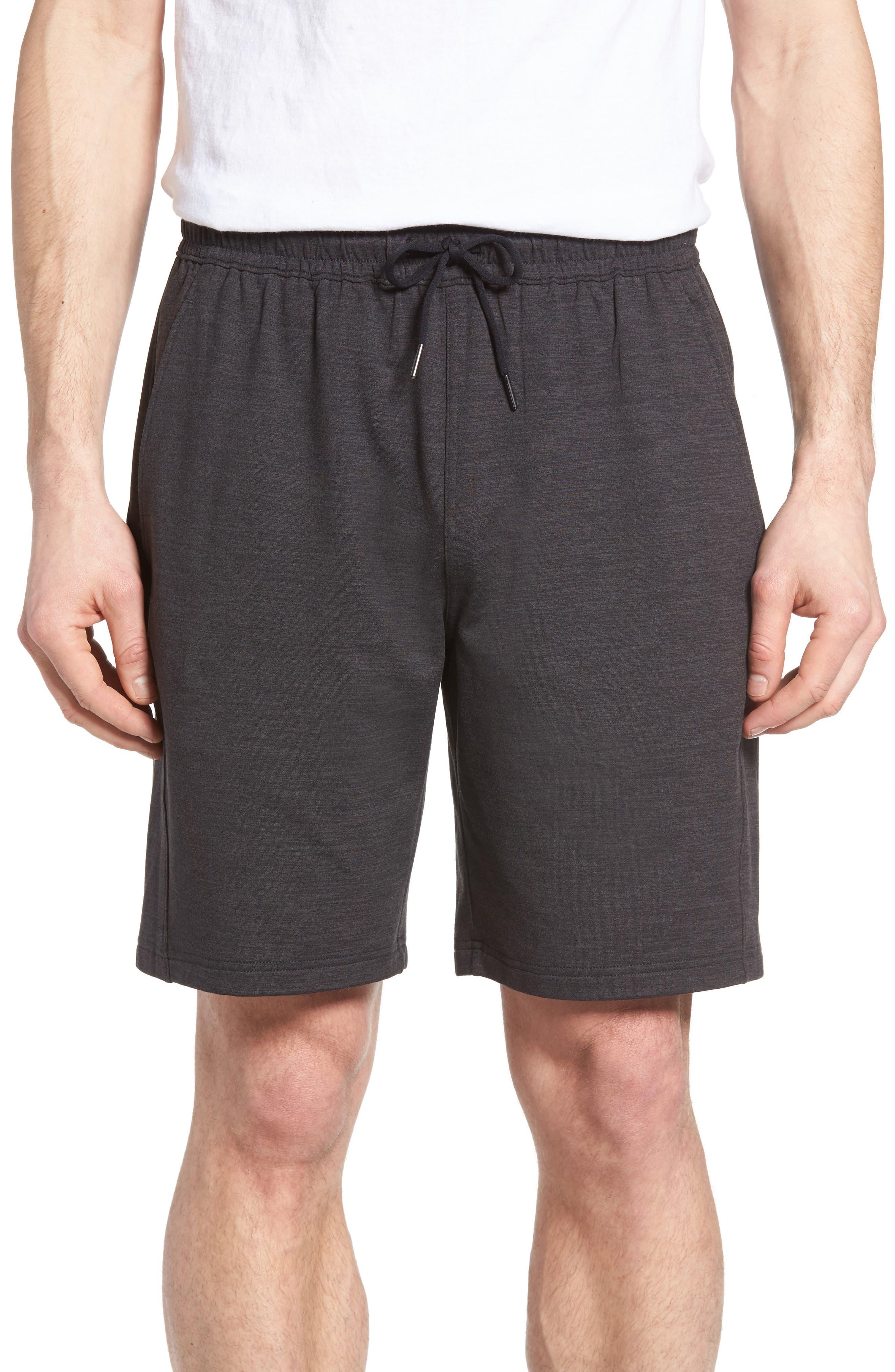 ZELLA Pyrite Knit Shorts, Main, color, BLACK OXIDE MELANGE