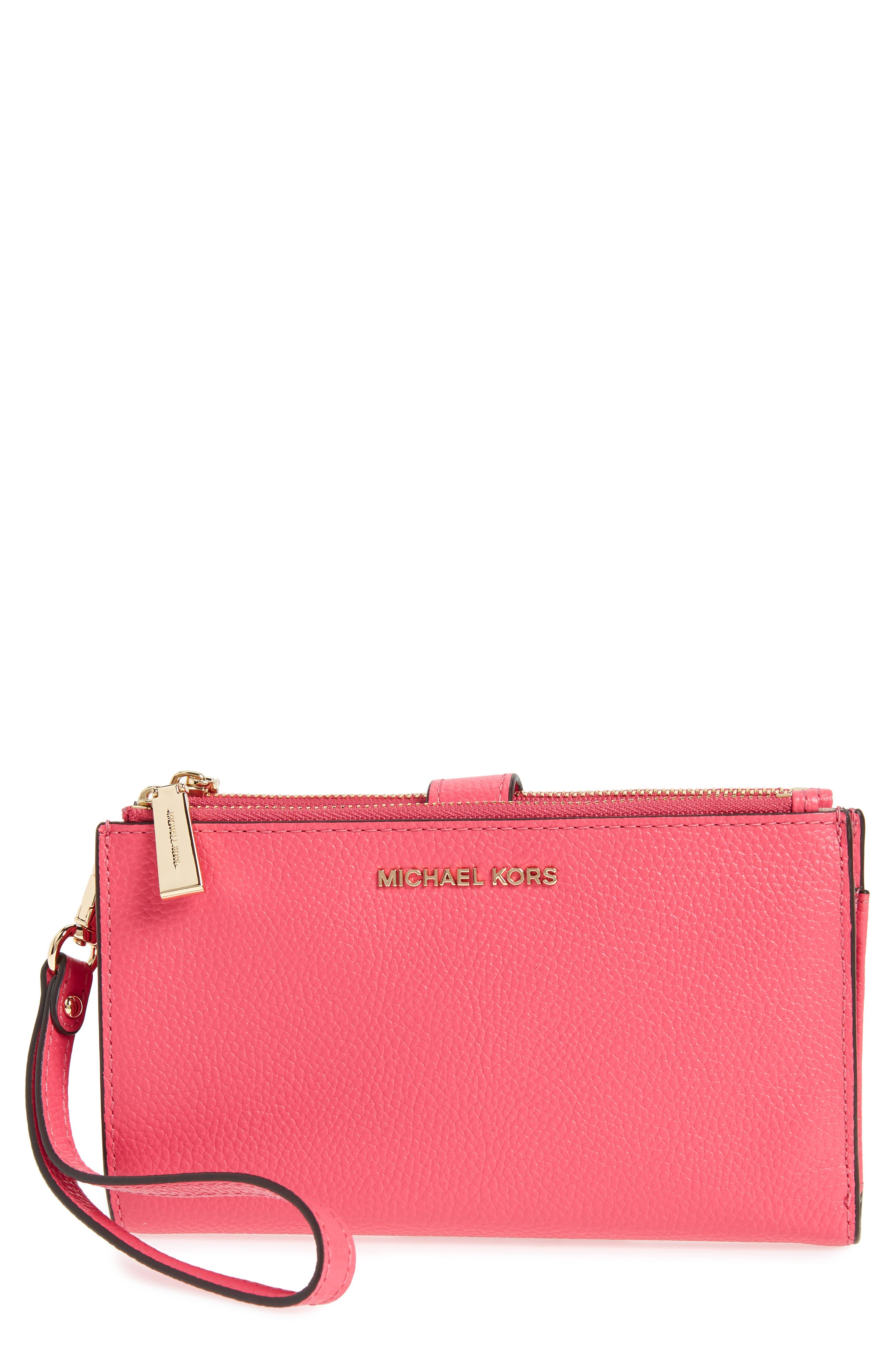 Adele Leather Wristlet,                             Main thumbnail 5, color,