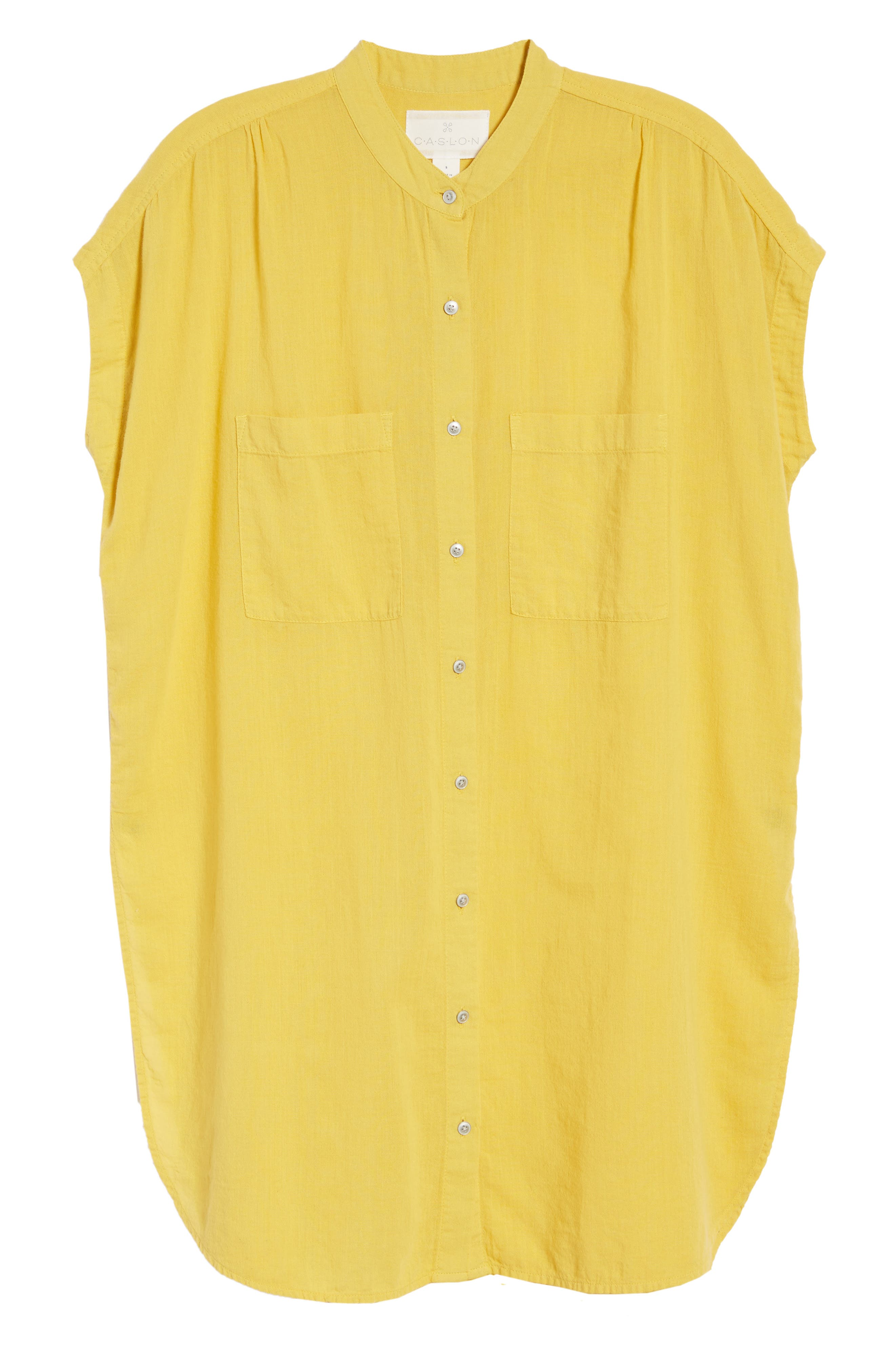 Button Front Longline Top,                             Alternate thumbnail 47, color,