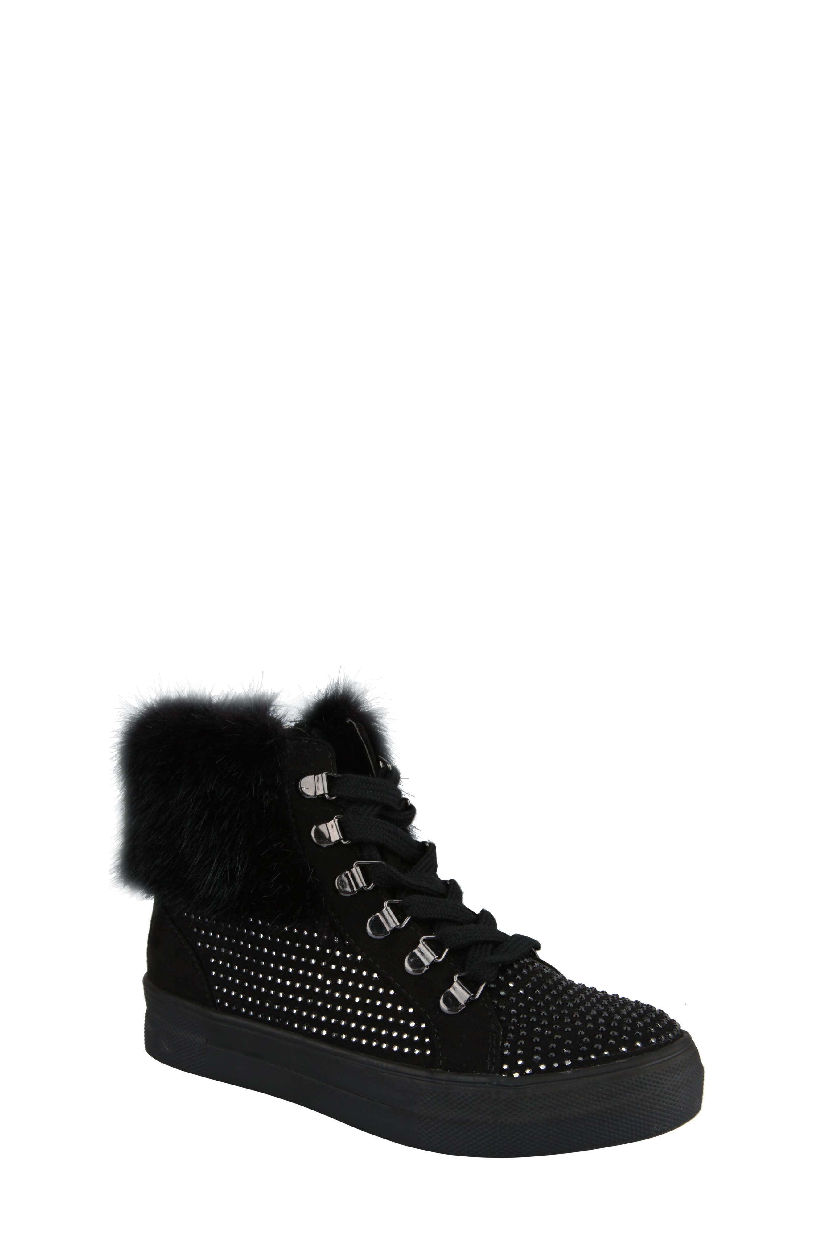 Randi Studded Faux Fur High Top,                         Main,                         color, 007