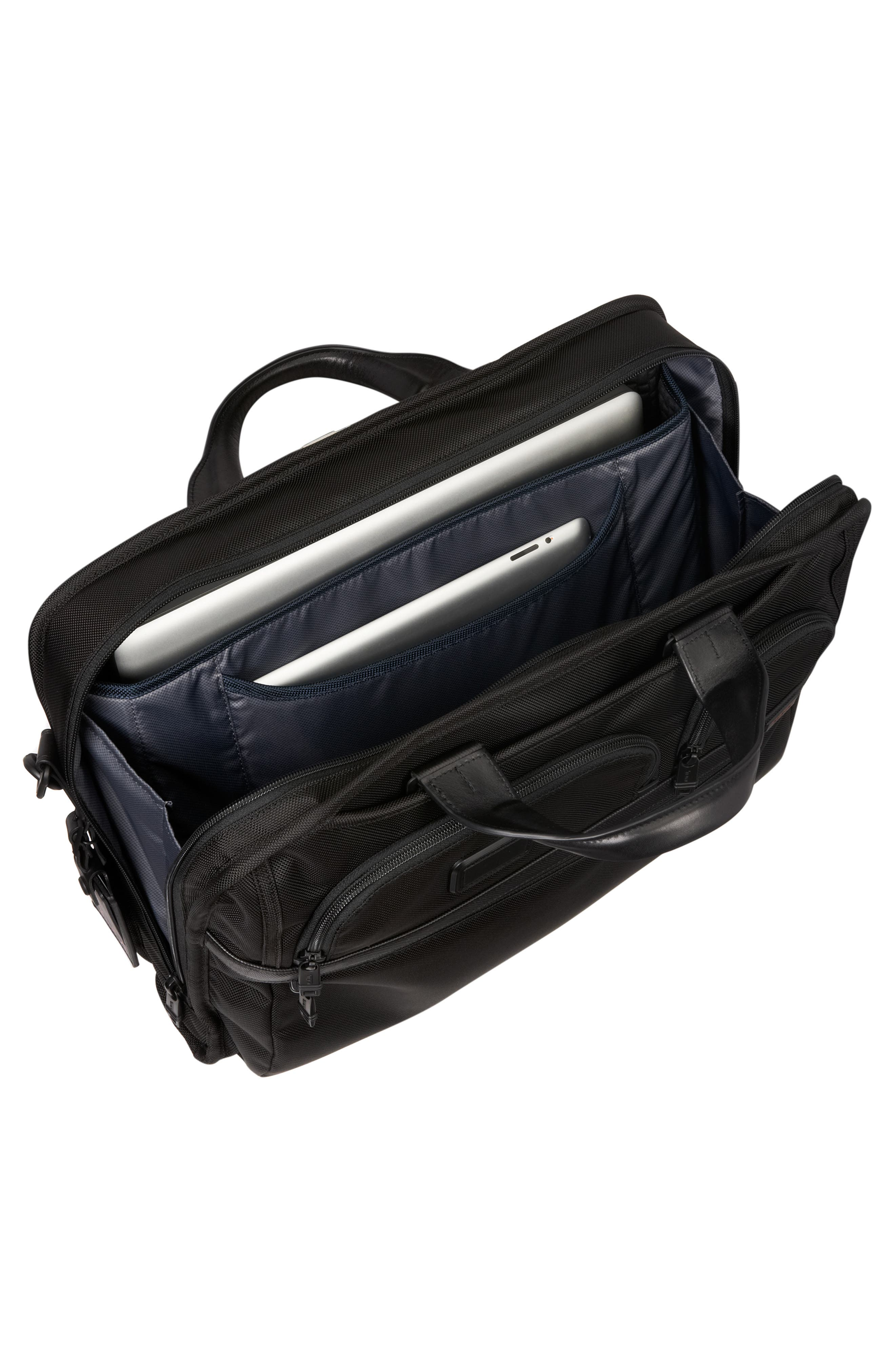 Alpha 2 Laptop Briefcase with Tumi ID Lock Pocket,                             Alternate thumbnail 4, color,                             BLACK