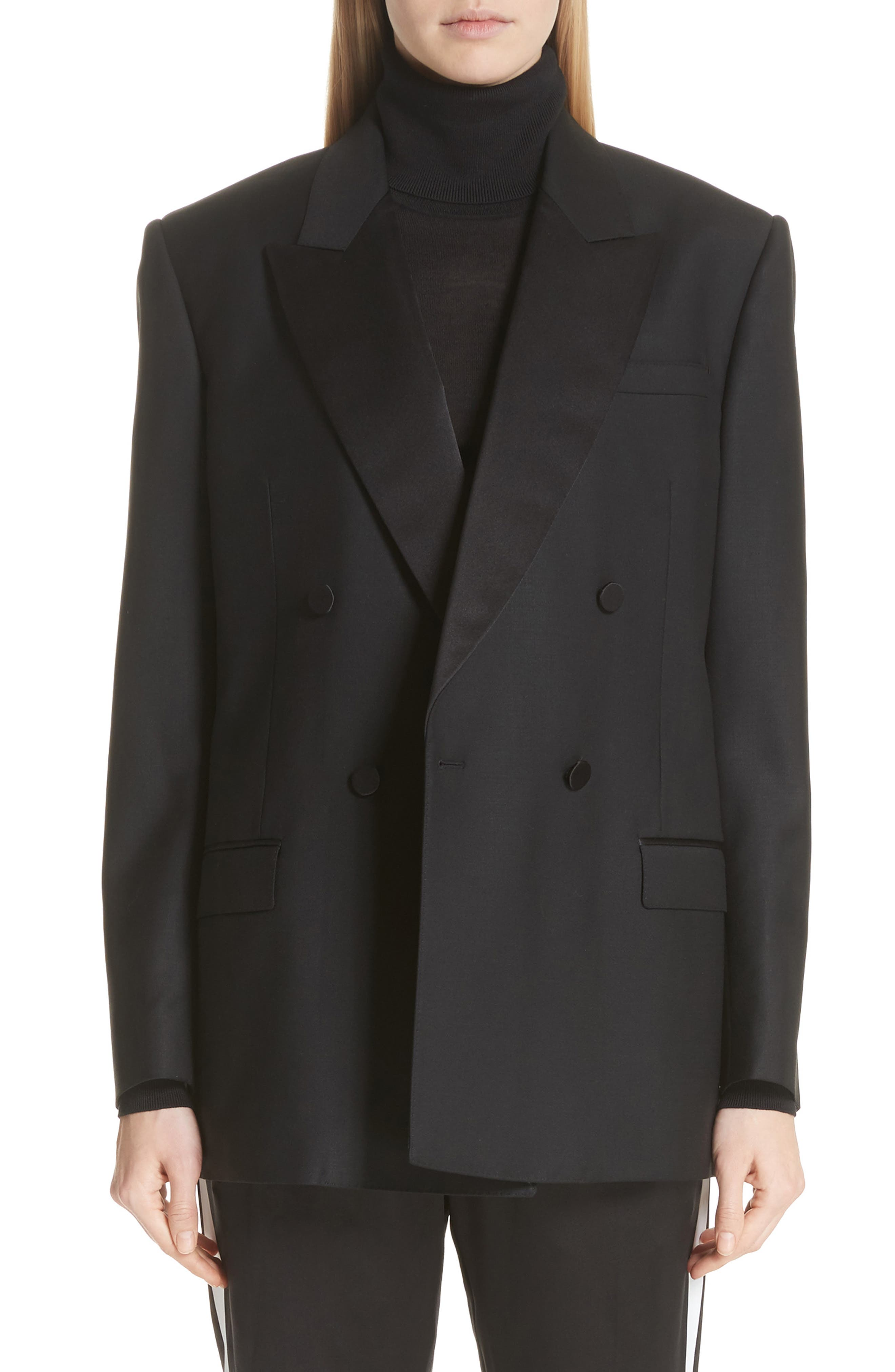 Thompson Wool & Mohair Blazer,                             Main thumbnail 1, color,                             BLACK