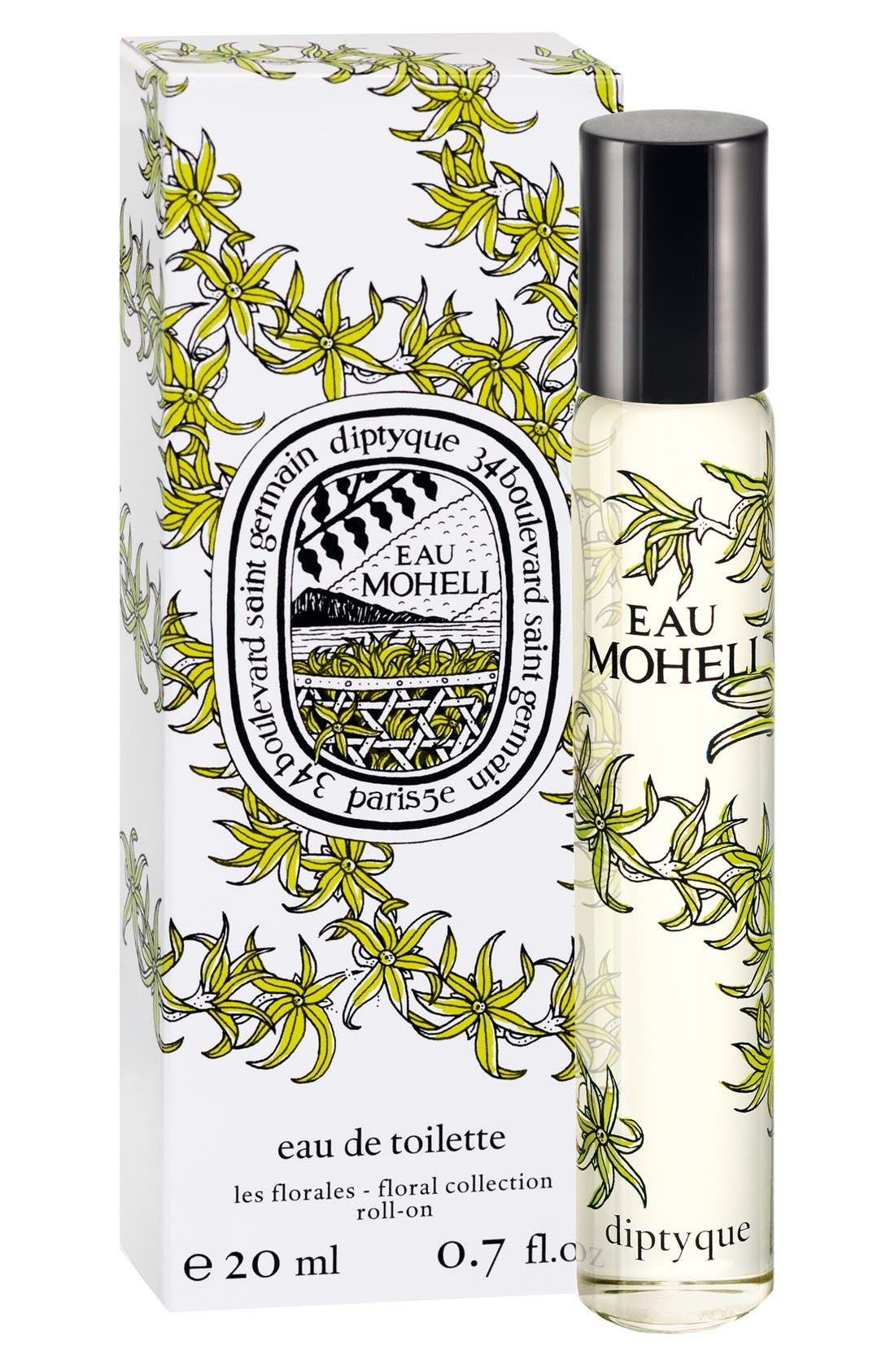 Eau Moheli Roll-On Eau de Toilette,                             Alternate thumbnail 2, color,                             000