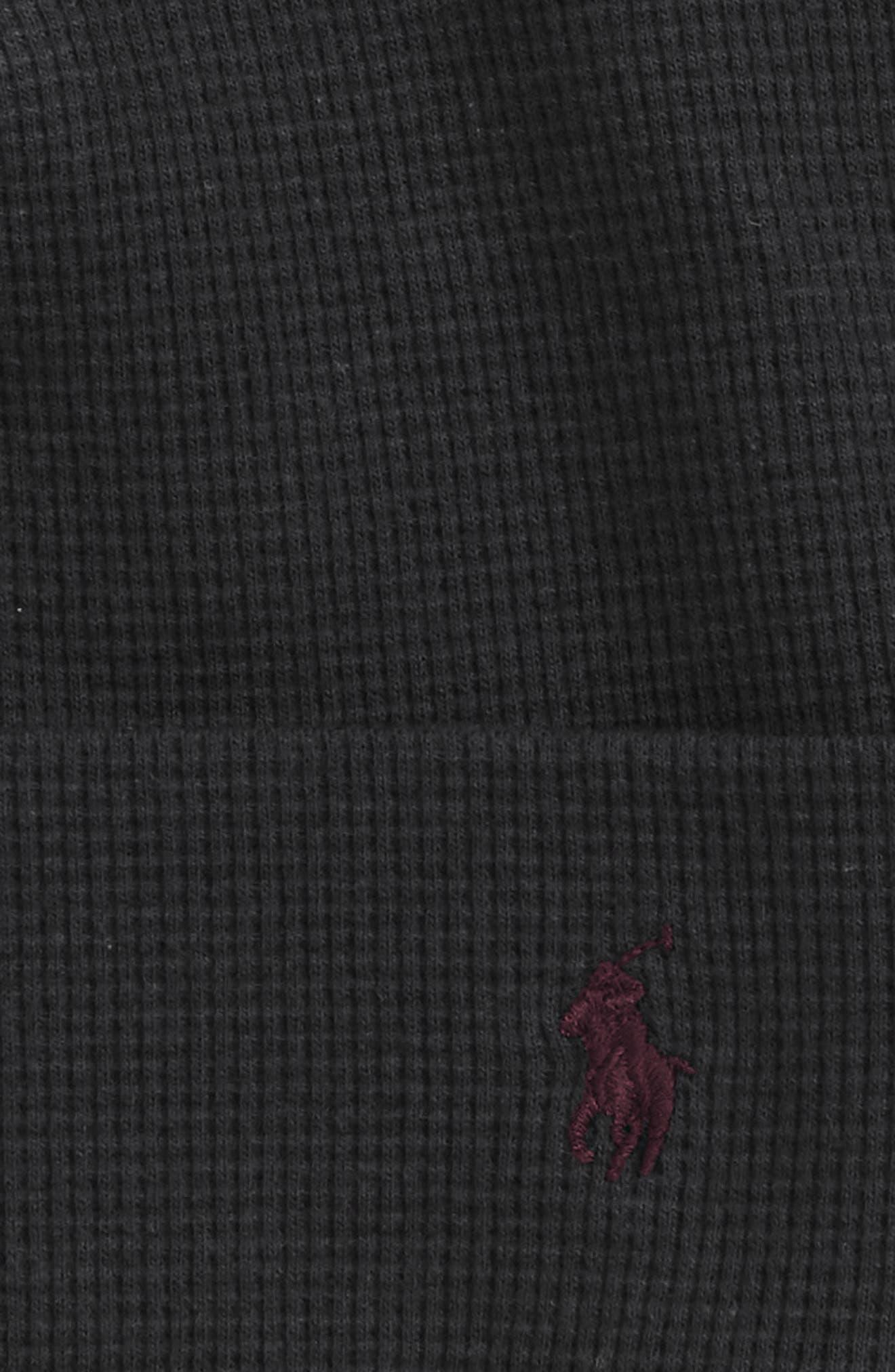 Thermal Cuff Cotton Cap,                             Alternate thumbnail 2, color,                             POLO BLACK
