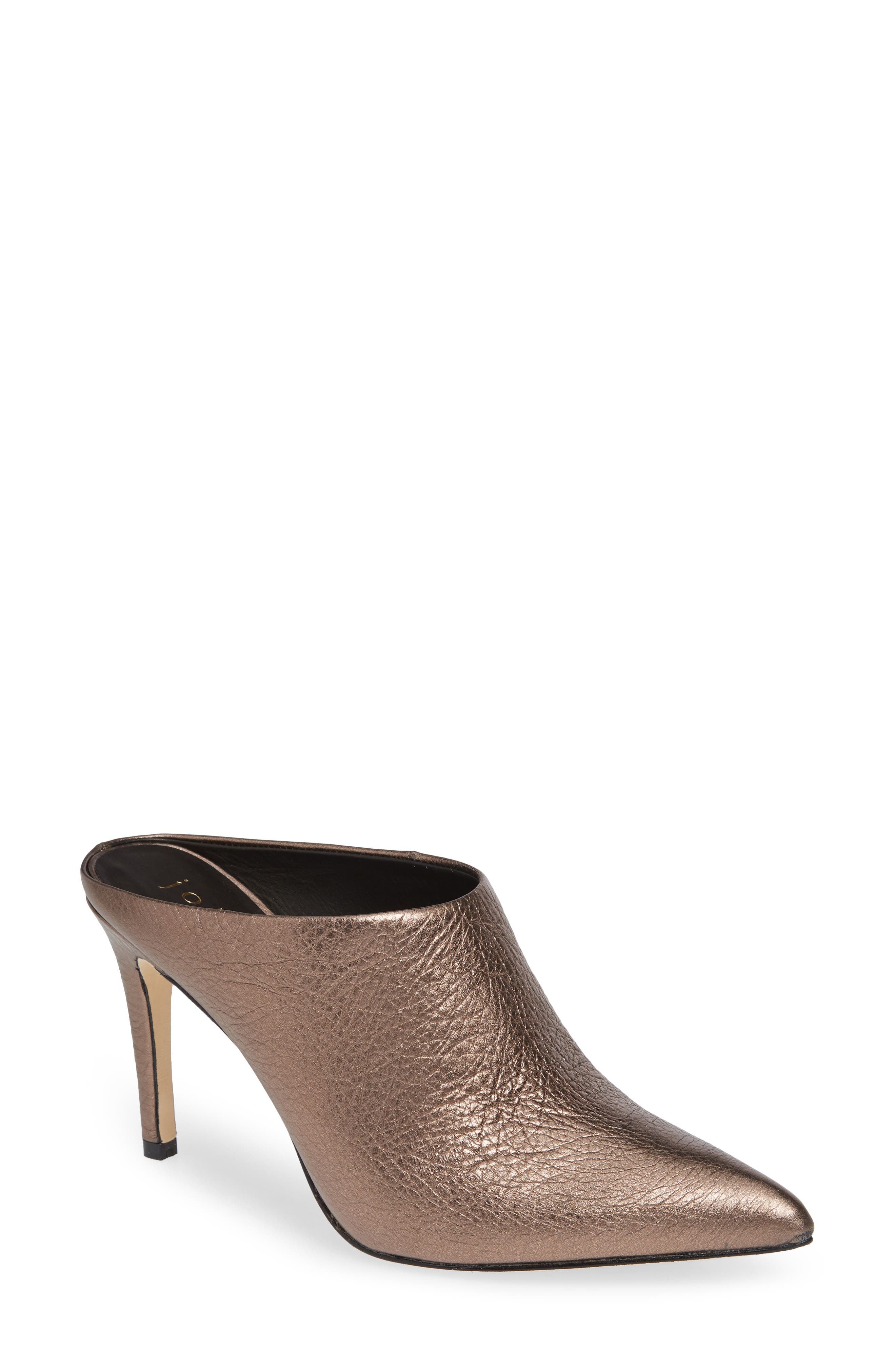 Alinie Pointy Toe Mule,                             Main thumbnail 1, color,                             BRONZE