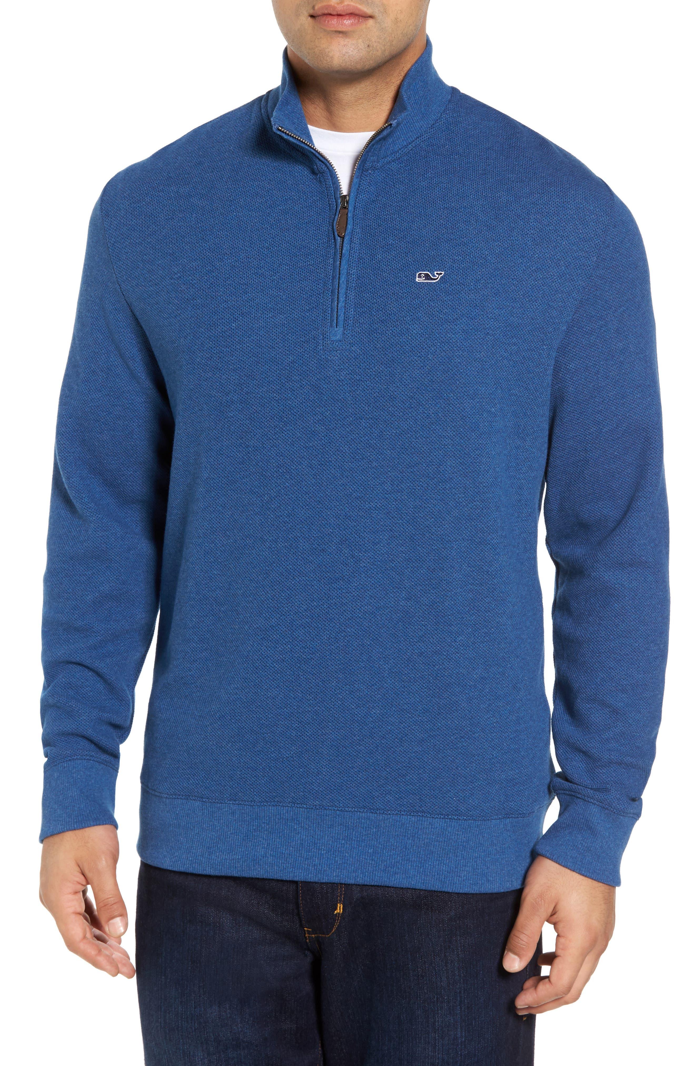 Double-Knit Quarter Zip Pullover,                         Main,                         color, 461