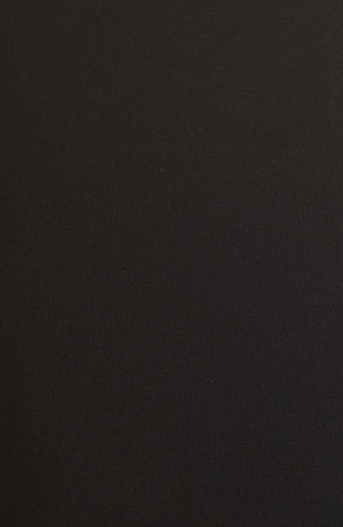 Jessa Cutout Midi Dress,                             Alternate thumbnail 5, color,                             001
