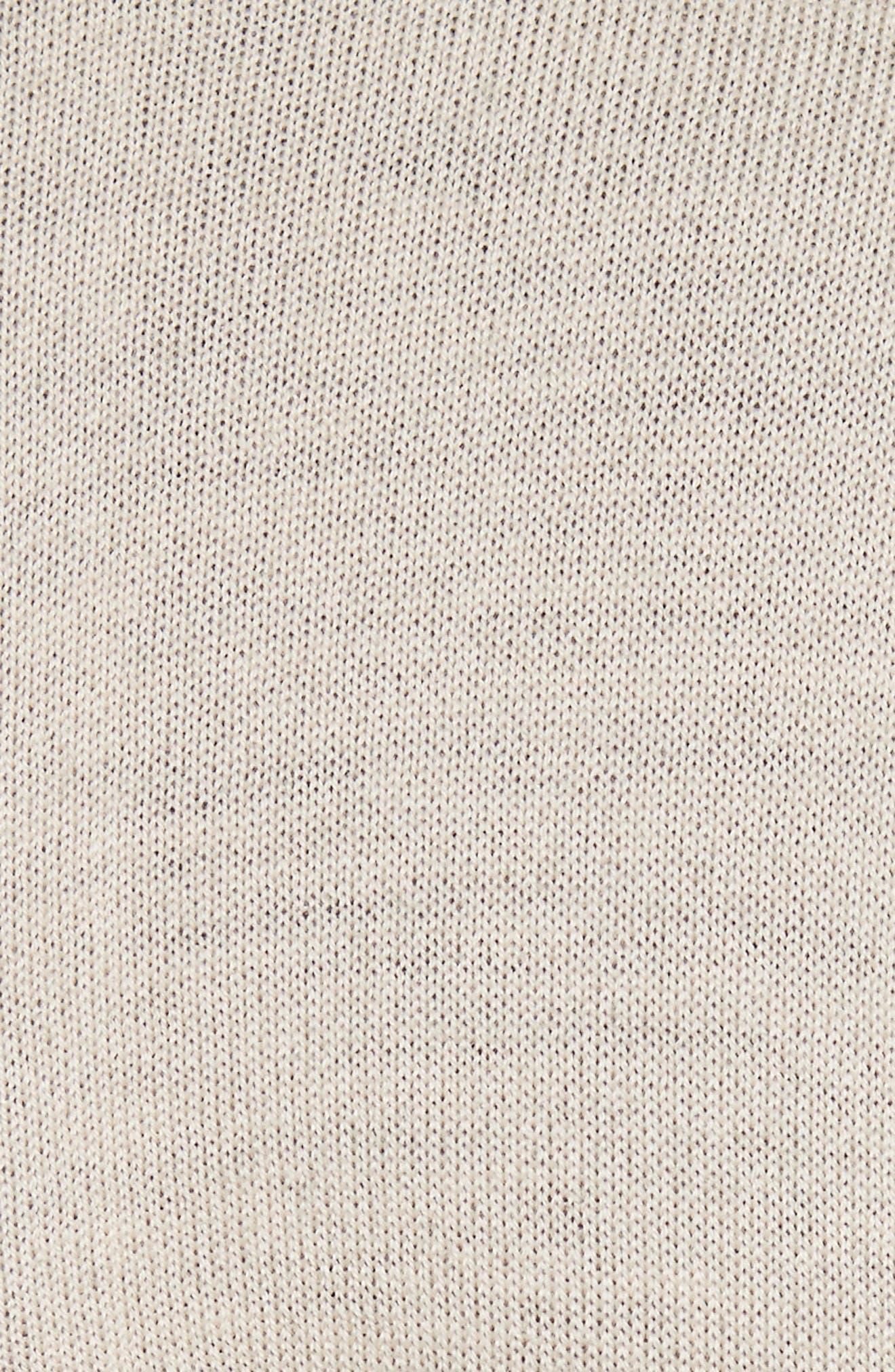 Mia Contrast Trim Sweater Dress,                             Alternate thumbnail 5, color,                             909