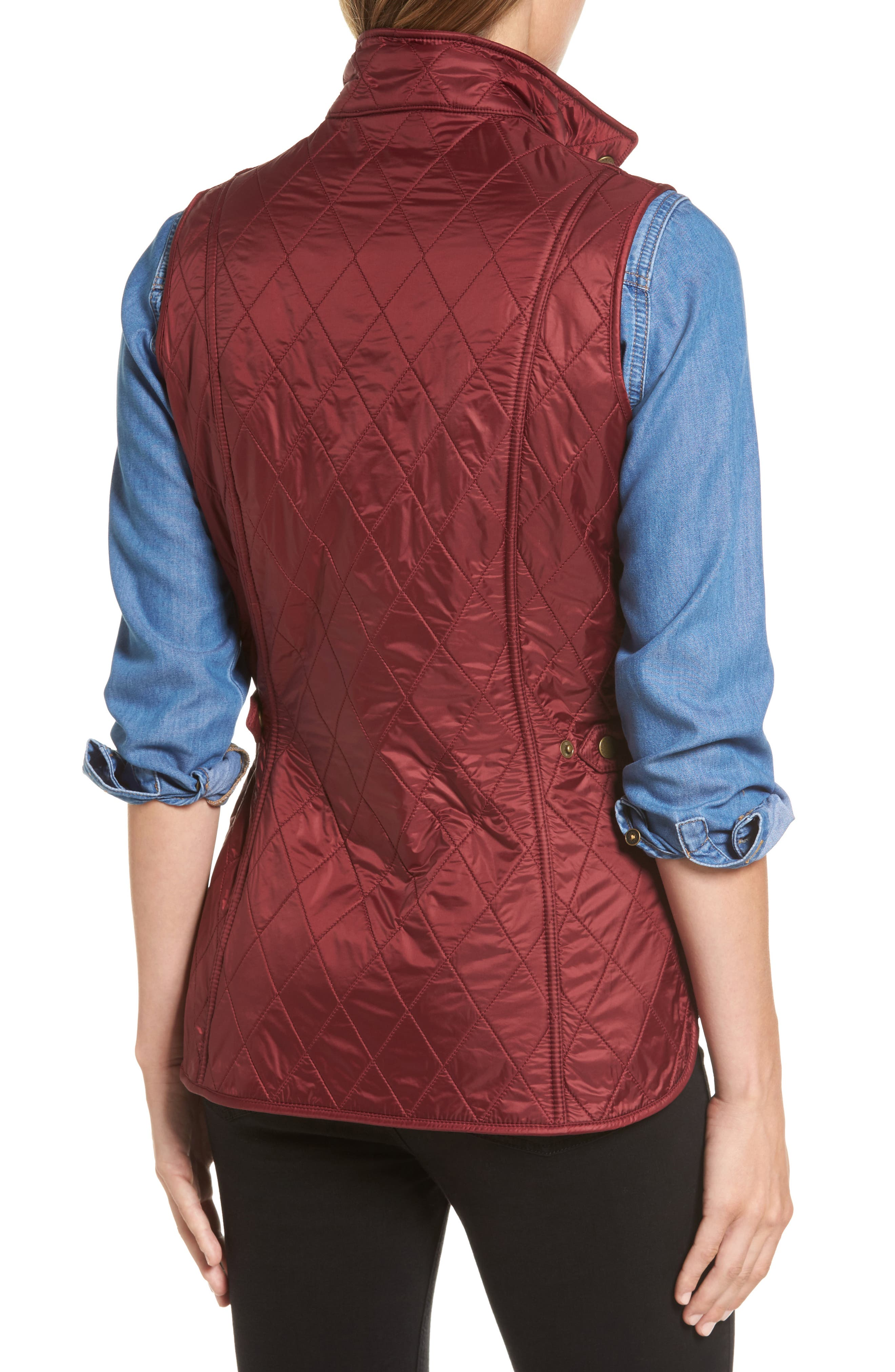 Wray Water Resistant Quilted Gilet,                             Alternate thumbnail 7, color,