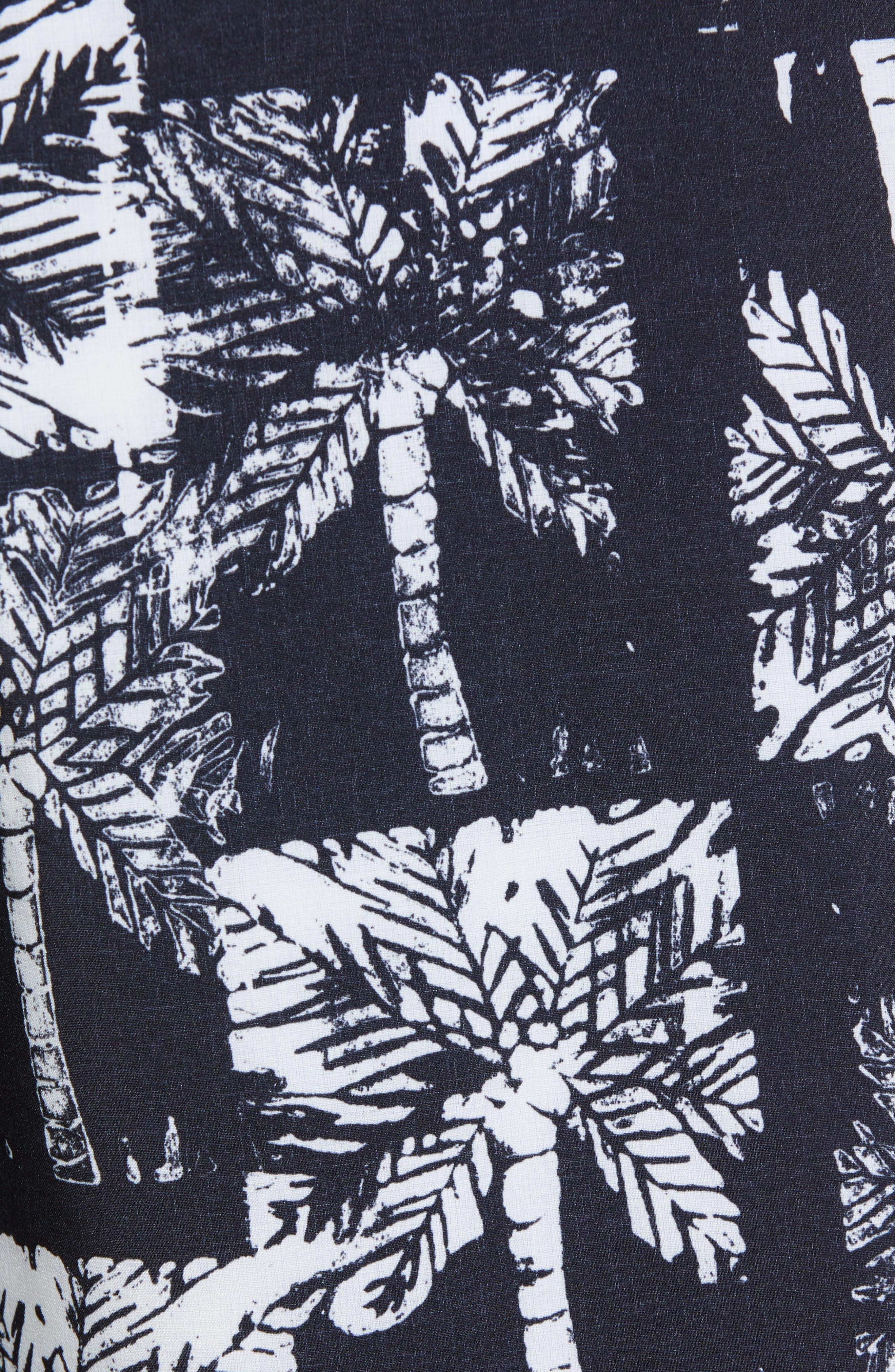 Oblow Palms II Swim Trunks,                             Alternate thumbnail 5, color,                             BLACK