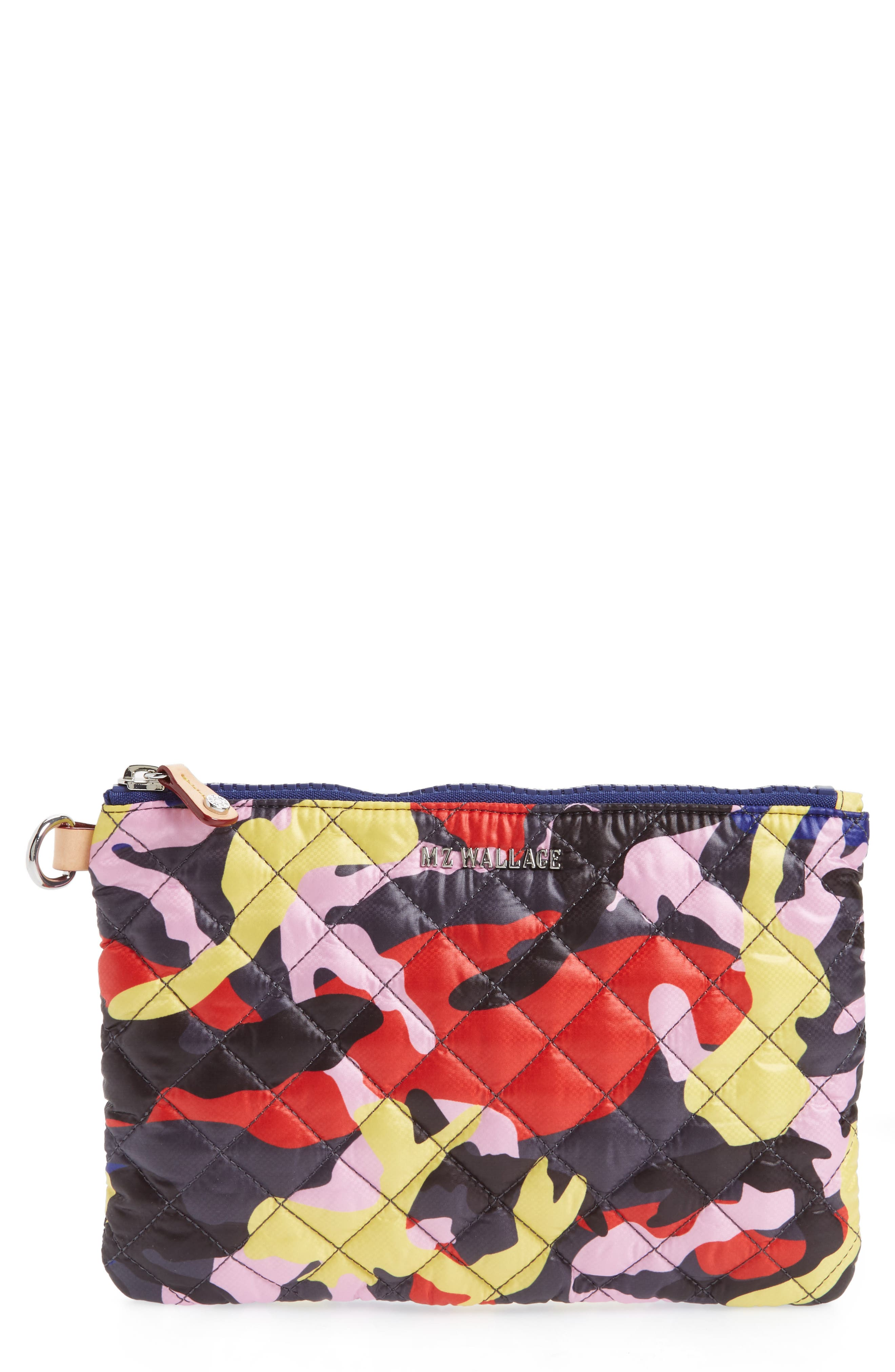 Small Metro Quilted Oxford Nylon Zip Pouch,                             Main thumbnail 3, color,