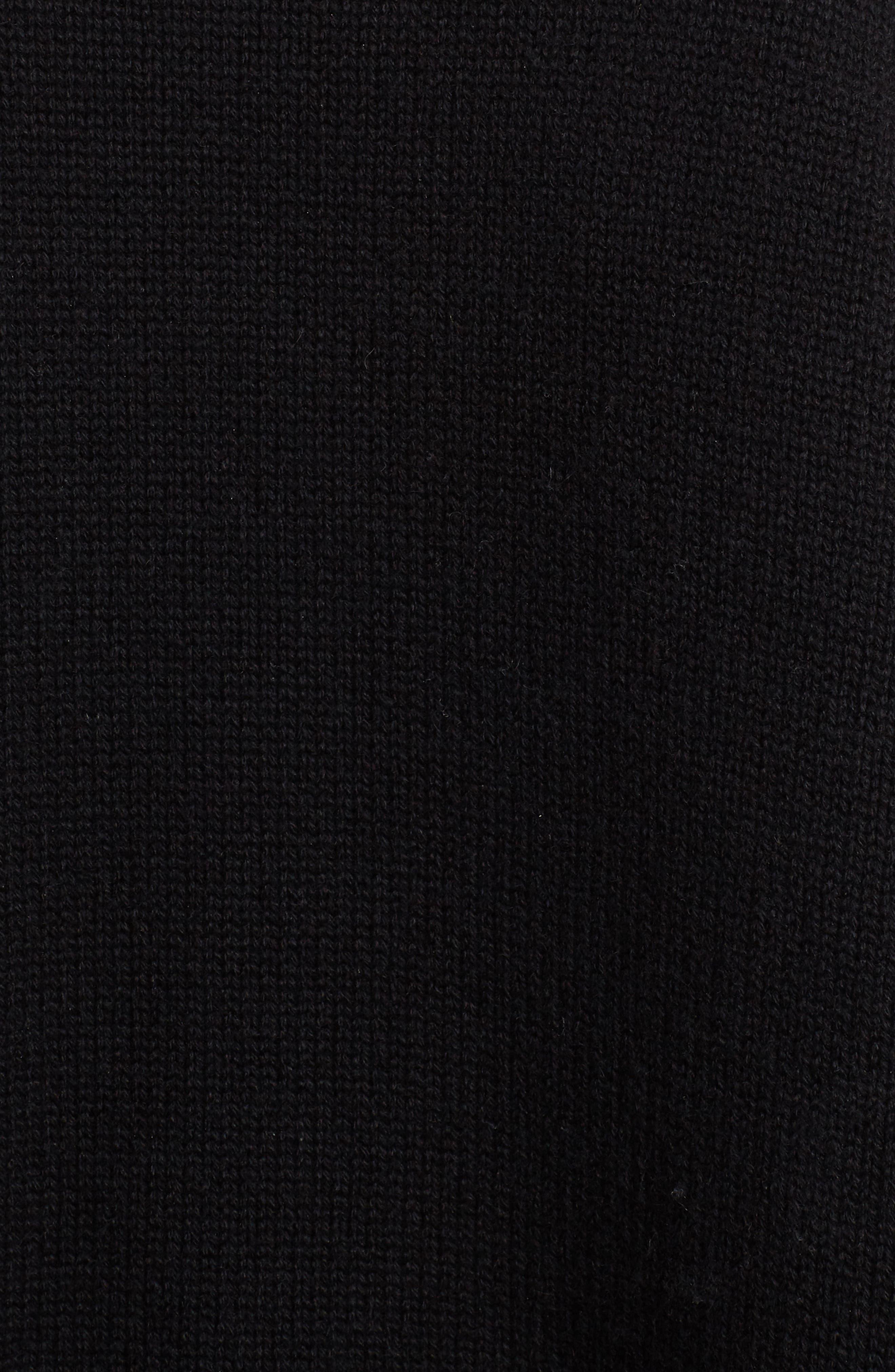 DOLCE&GABBANA,                             Intarsia Logo Cashmere Sweater,                             Alternate thumbnail 5, color,                             BLACK