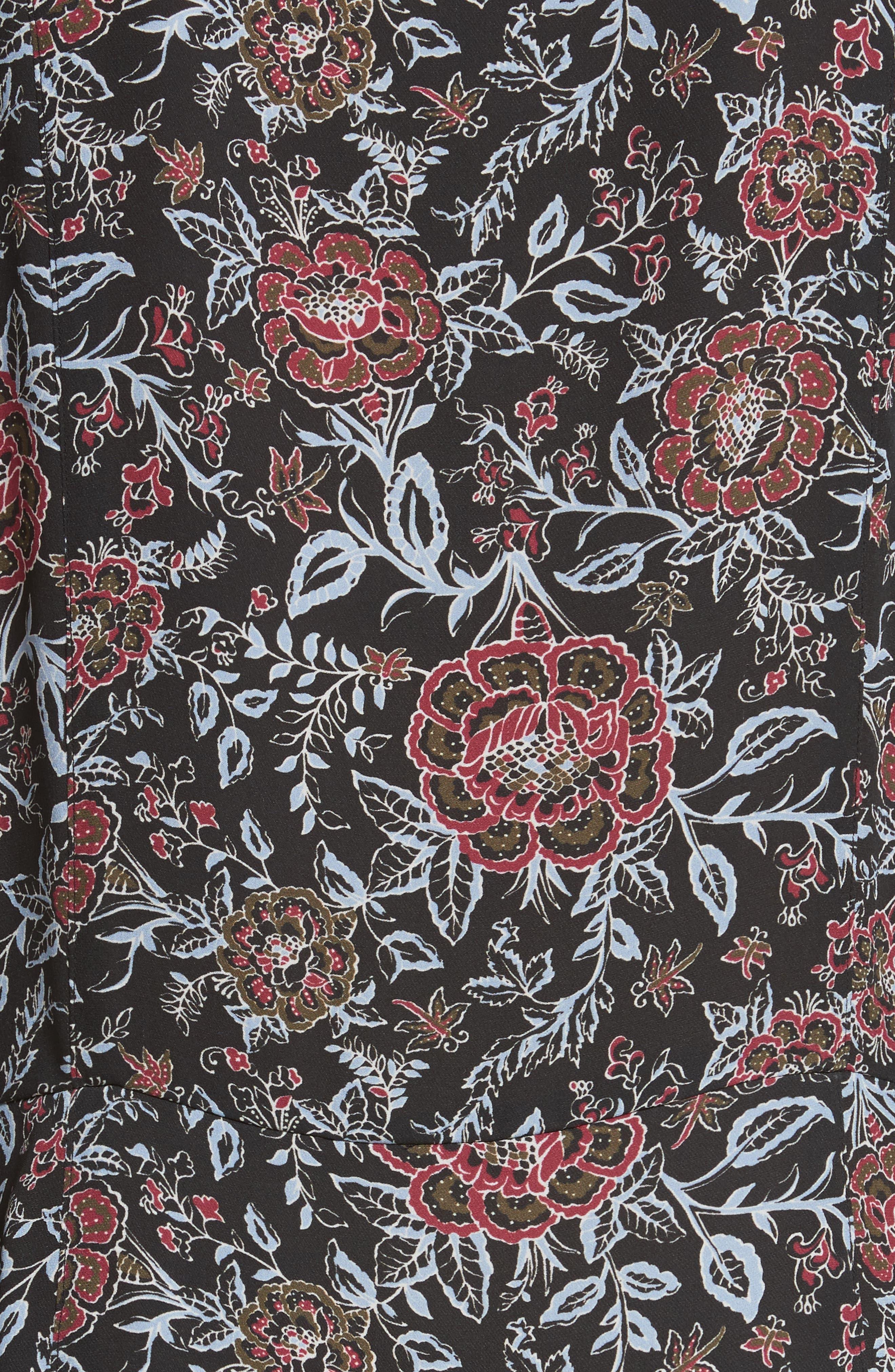 VERONICA BEARD,                             Dropped Tie Waist Silk Dress,                             Alternate thumbnail 5, color,                             600
