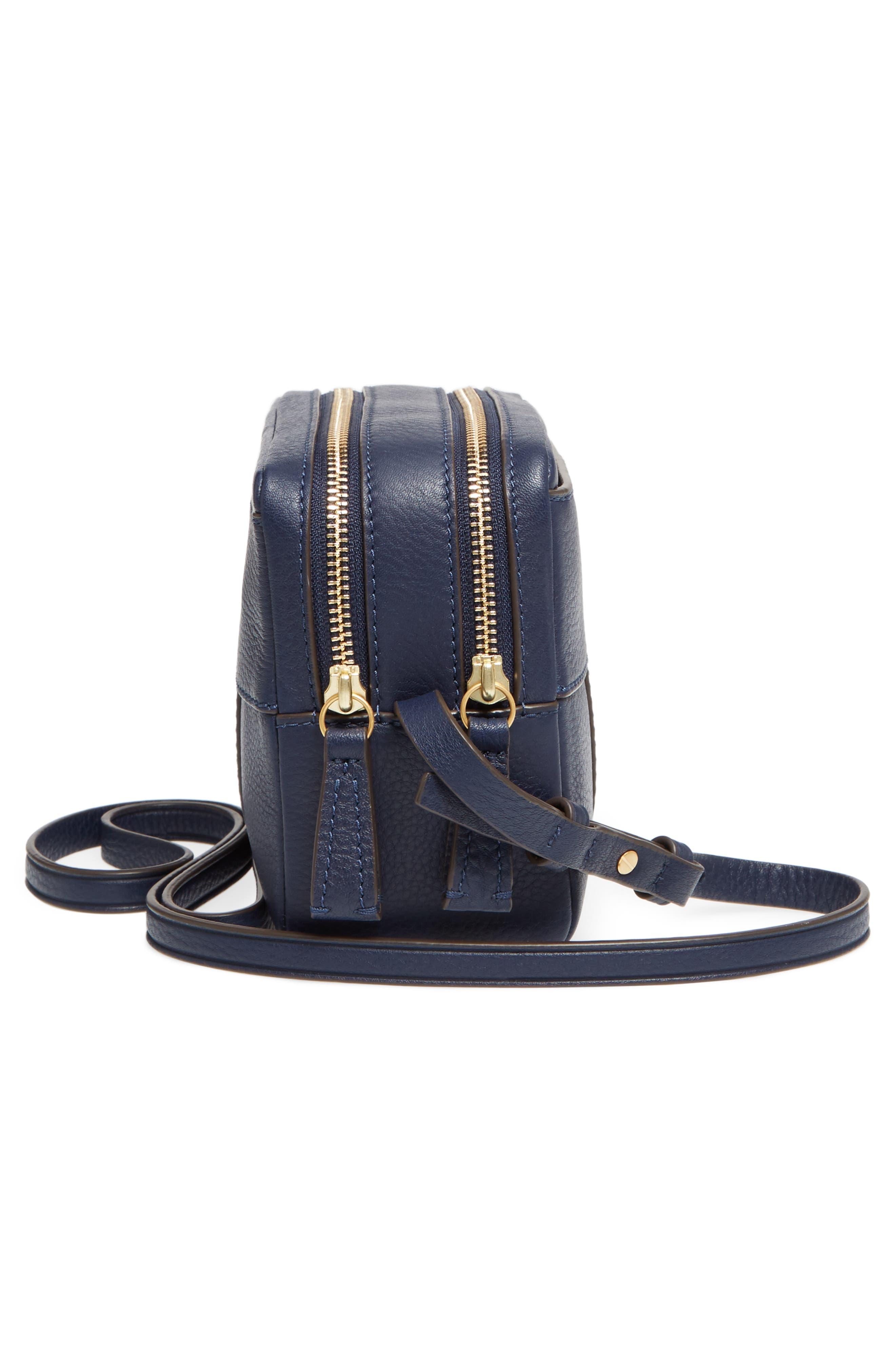 Block-T Double Zip Leather Crossbody Bag,                             Alternate thumbnail 10, color,