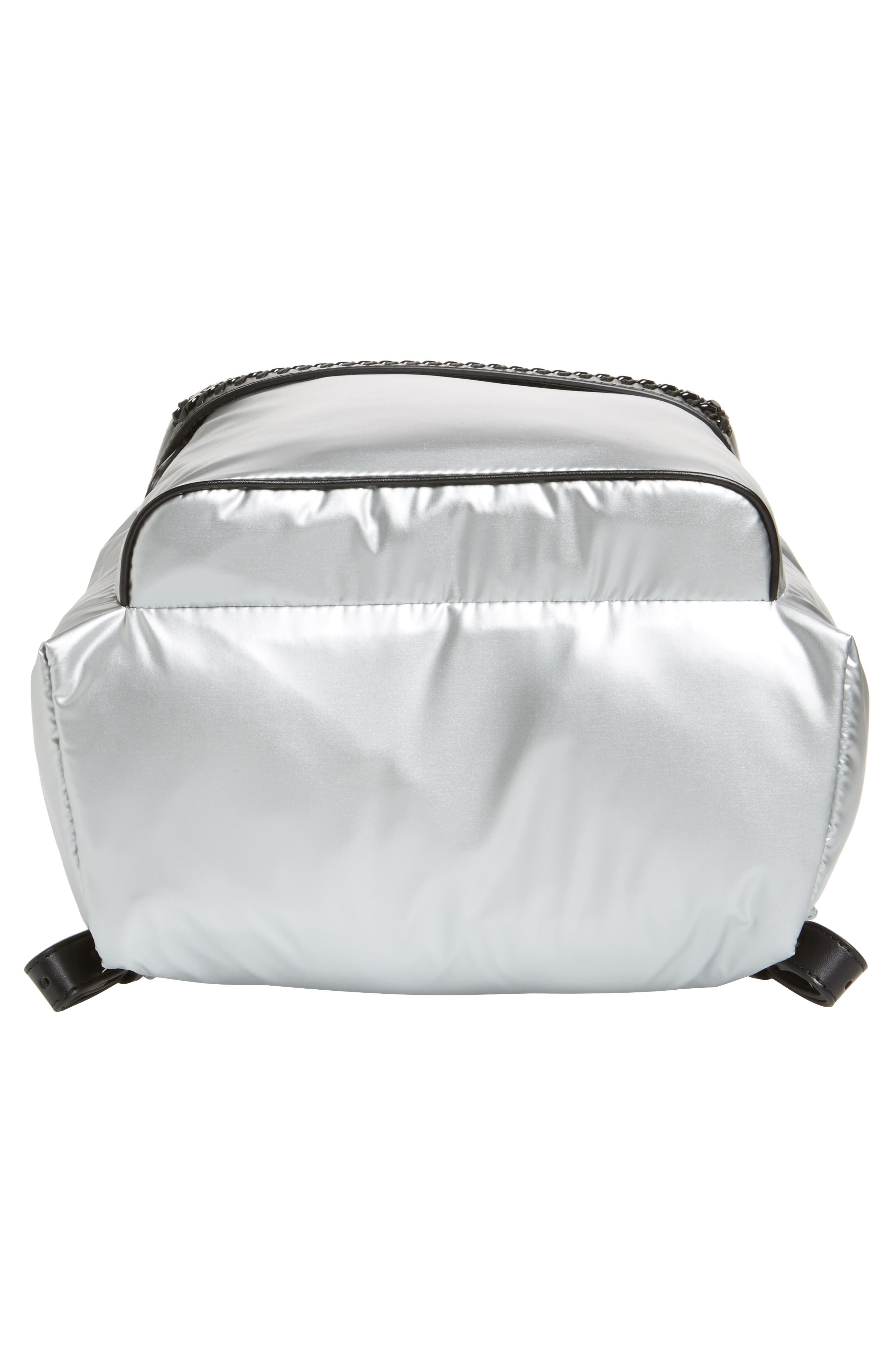 Falabella Metallic Nylon Backpack,                             Alternate thumbnail 6, color,                             045