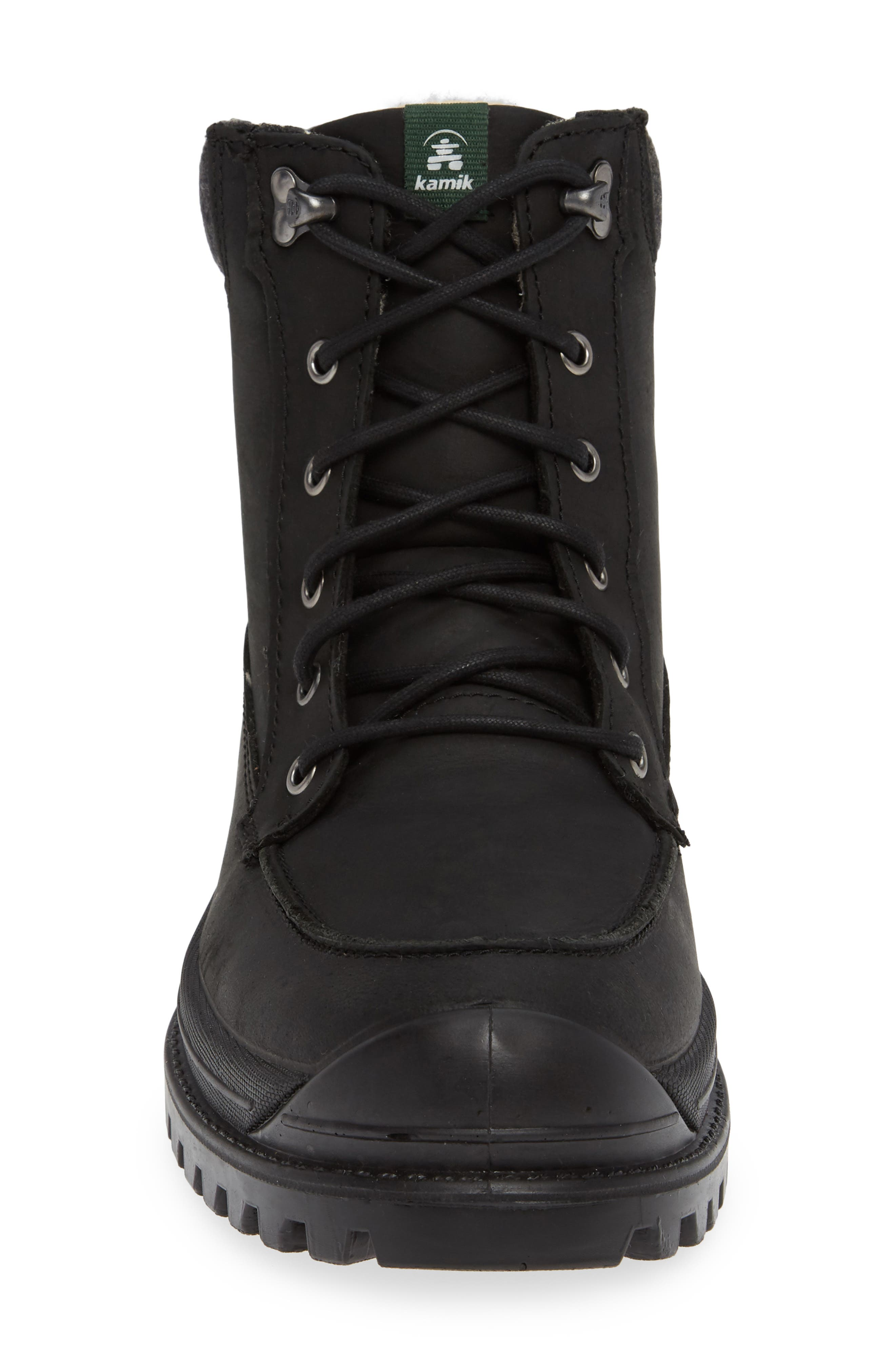 Griffon2 Snow Waterproof Boot with Faux Shearling,                             Alternate thumbnail 4, color,                             BLACK/ BLACK LEATHER