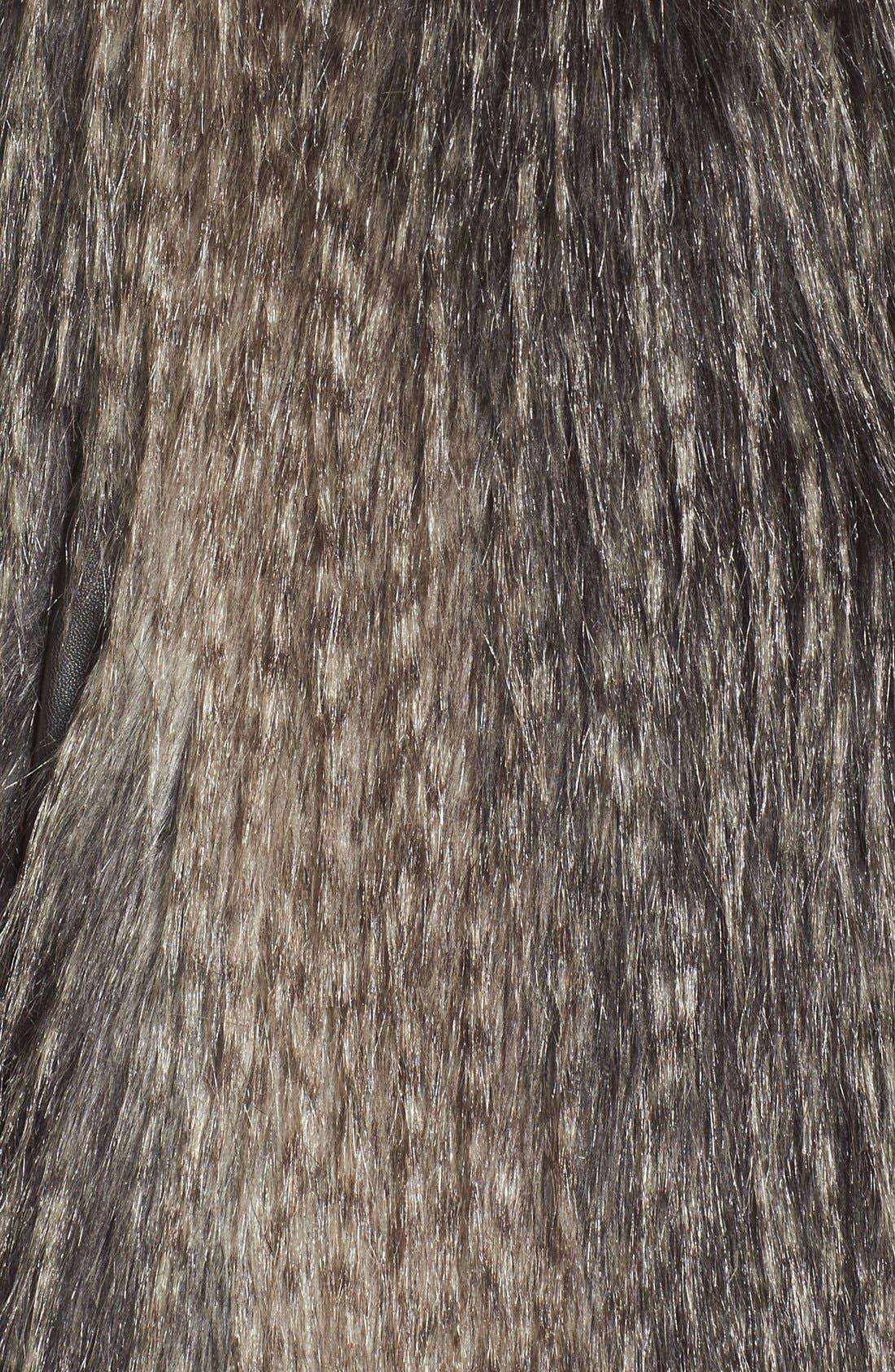 Collarless Faux Fur Vest,                             Alternate thumbnail 14, color,