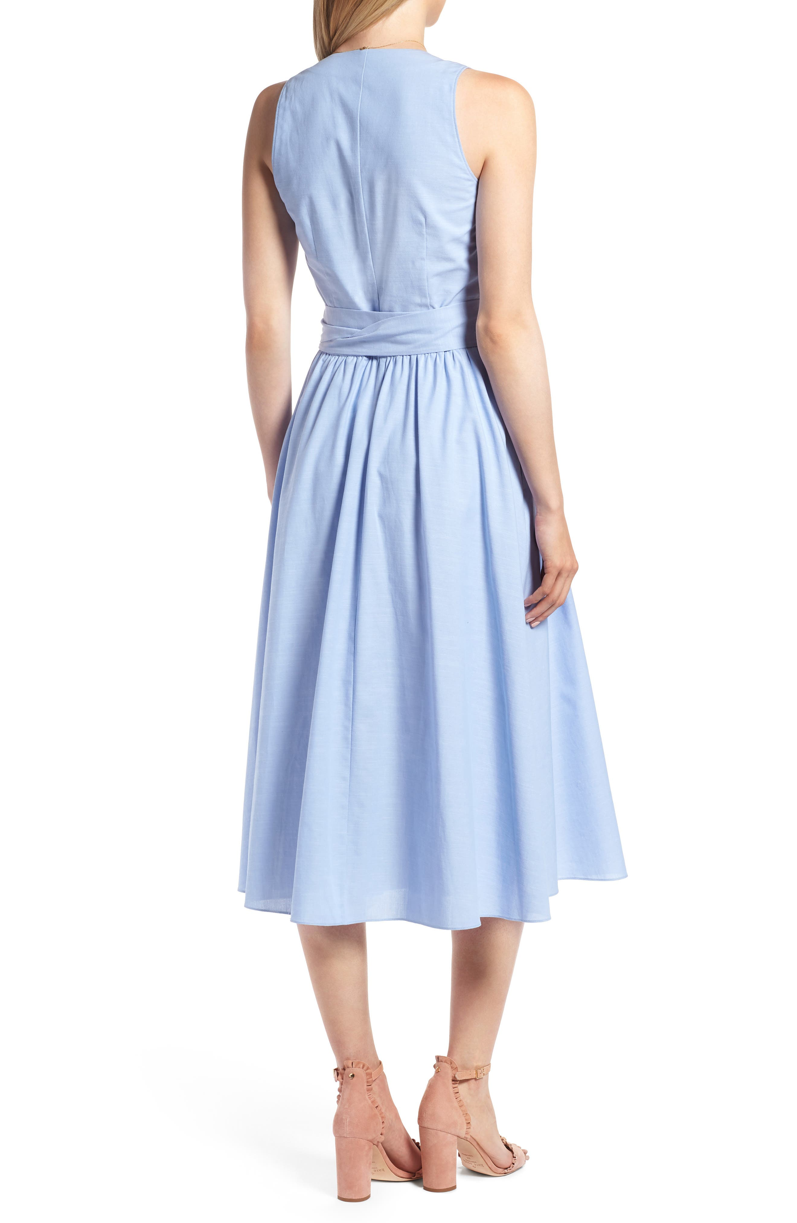 Chambray Wrap Dress,                             Alternate thumbnail 2, color,                             420