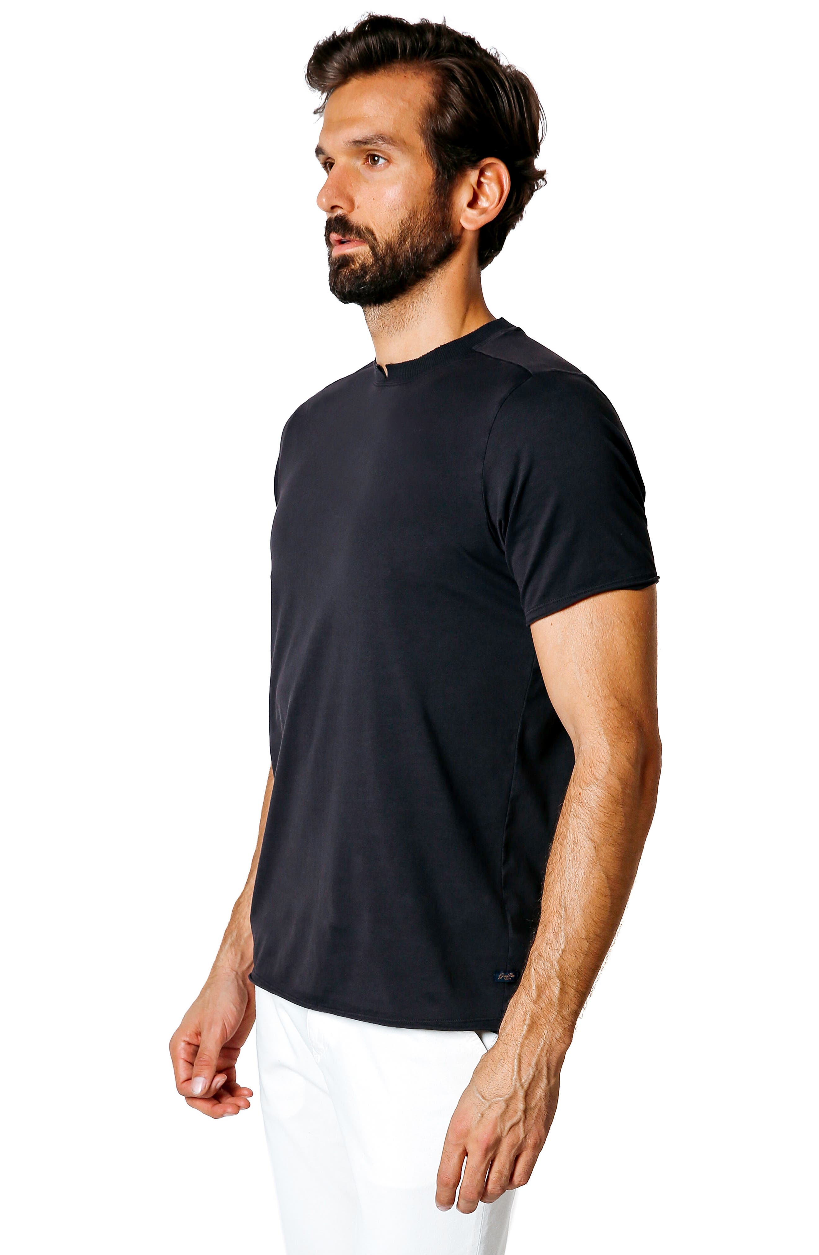 Trim Fit Slub T-Shirt,                             Alternate thumbnail 5, color,                             001