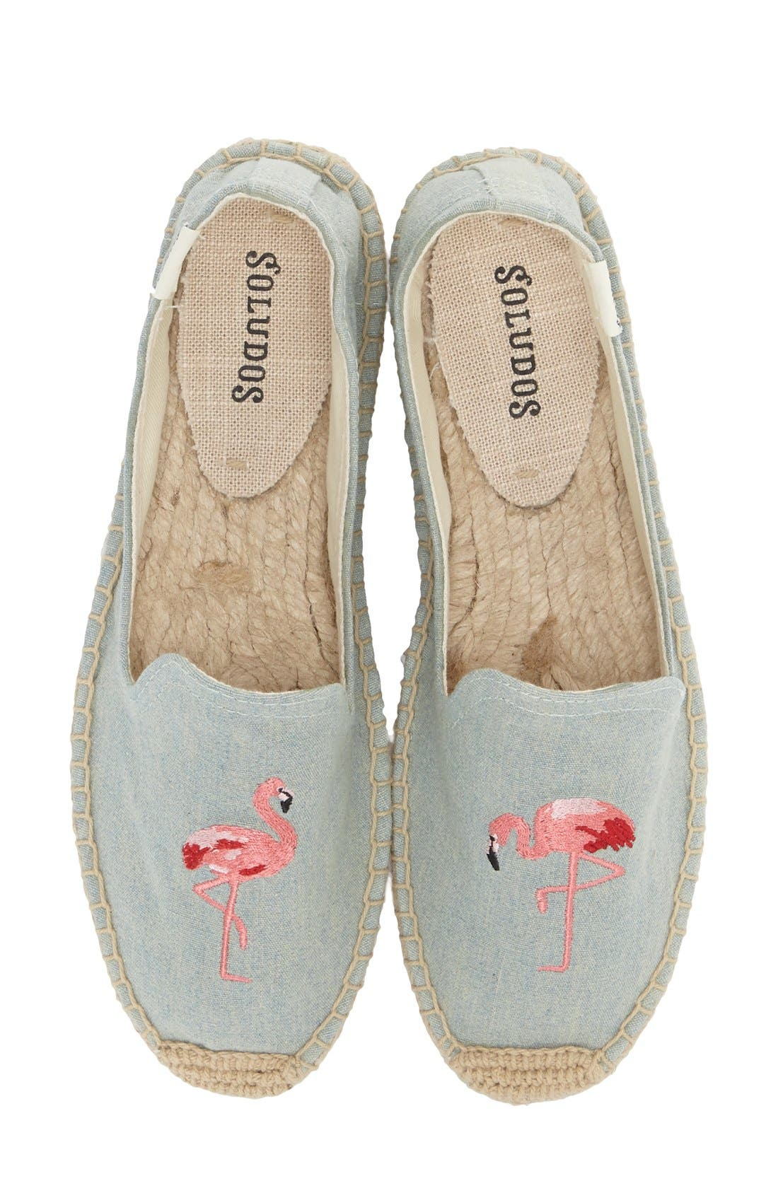Espadrille Slip-On,                         Main,                         color, FLAMINGO CHAMBRAY