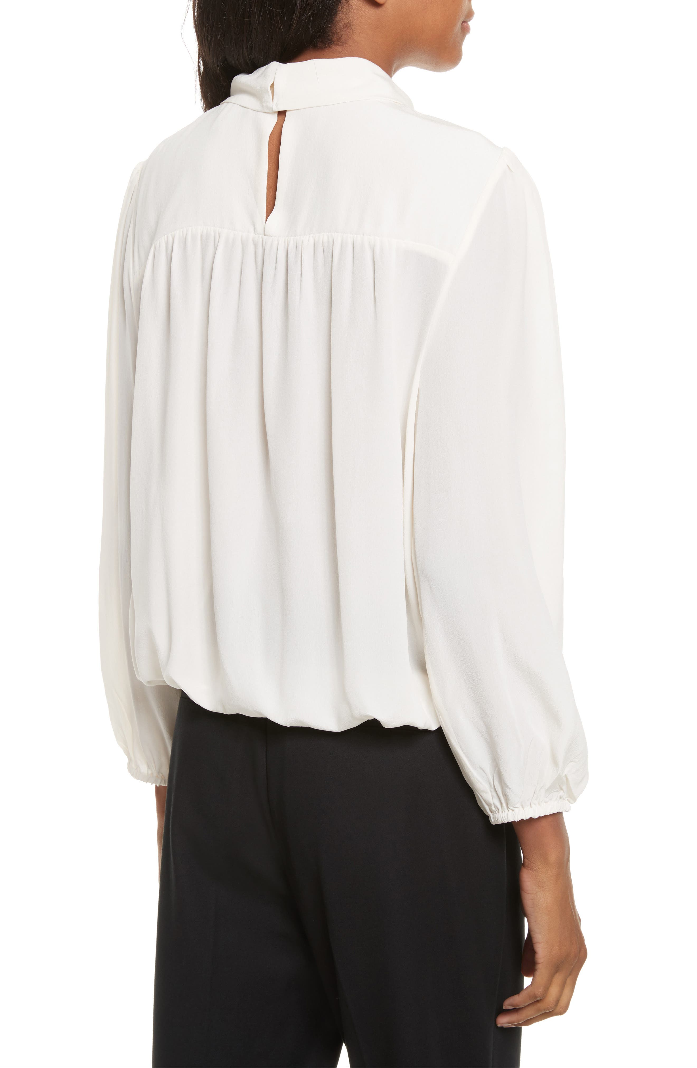 Lively Silk Top,                             Alternate thumbnail 2, color,