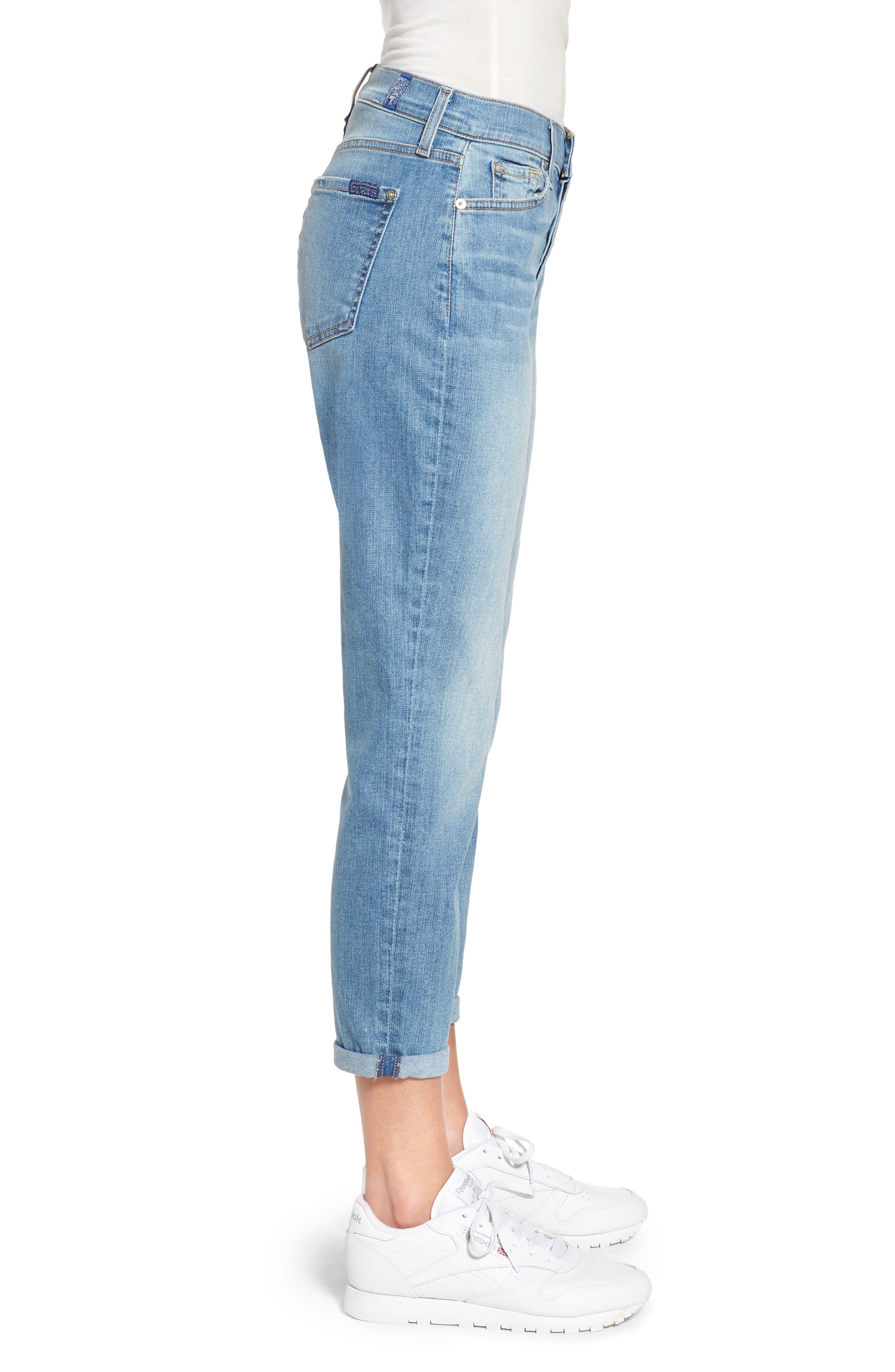 Josefina High Waist Boyfriend Jeans,                             Alternate thumbnail 3, color,