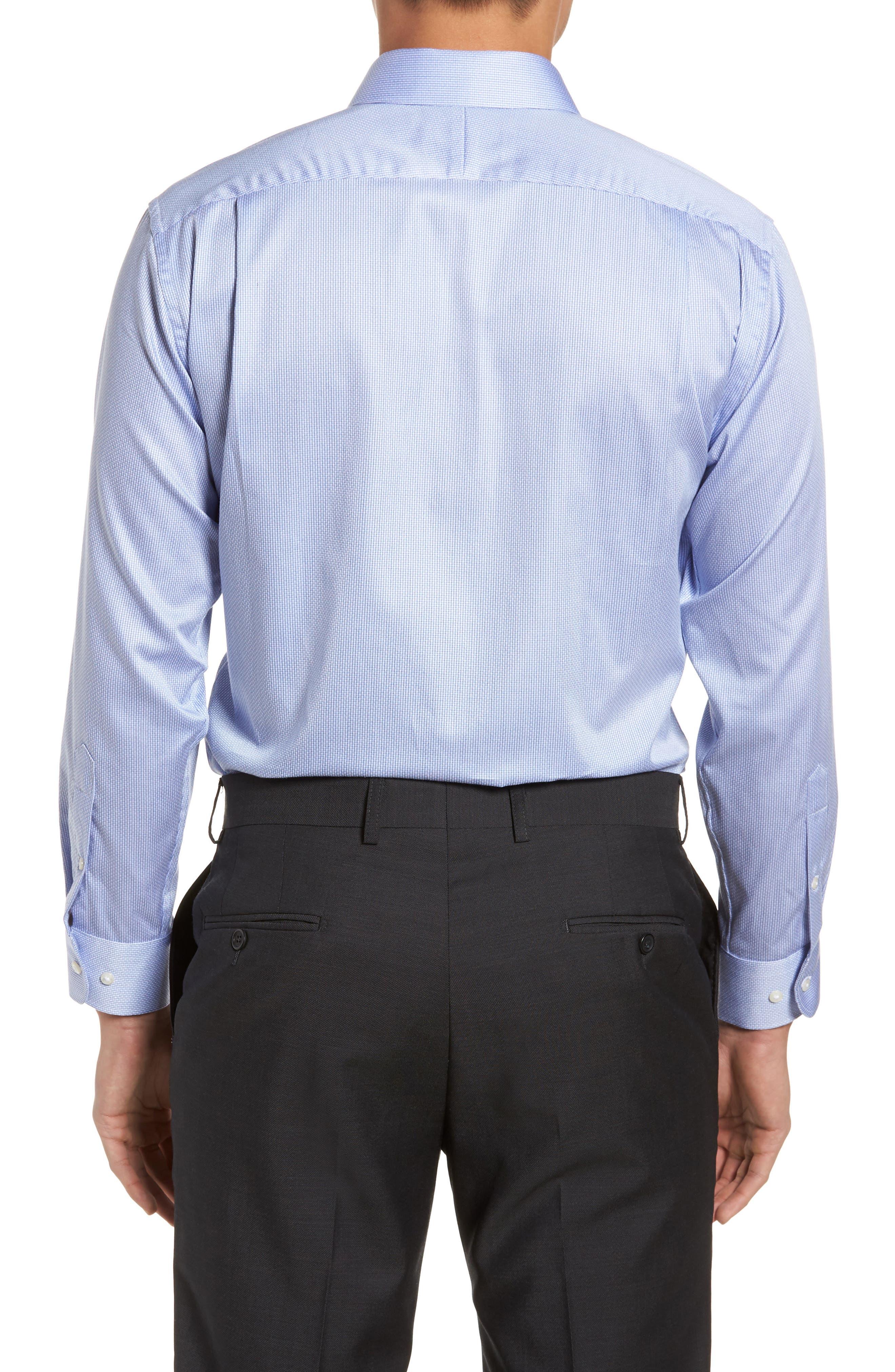 Trim Fit Stripe Dress Shirt,                             Alternate thumbnail 8, color,