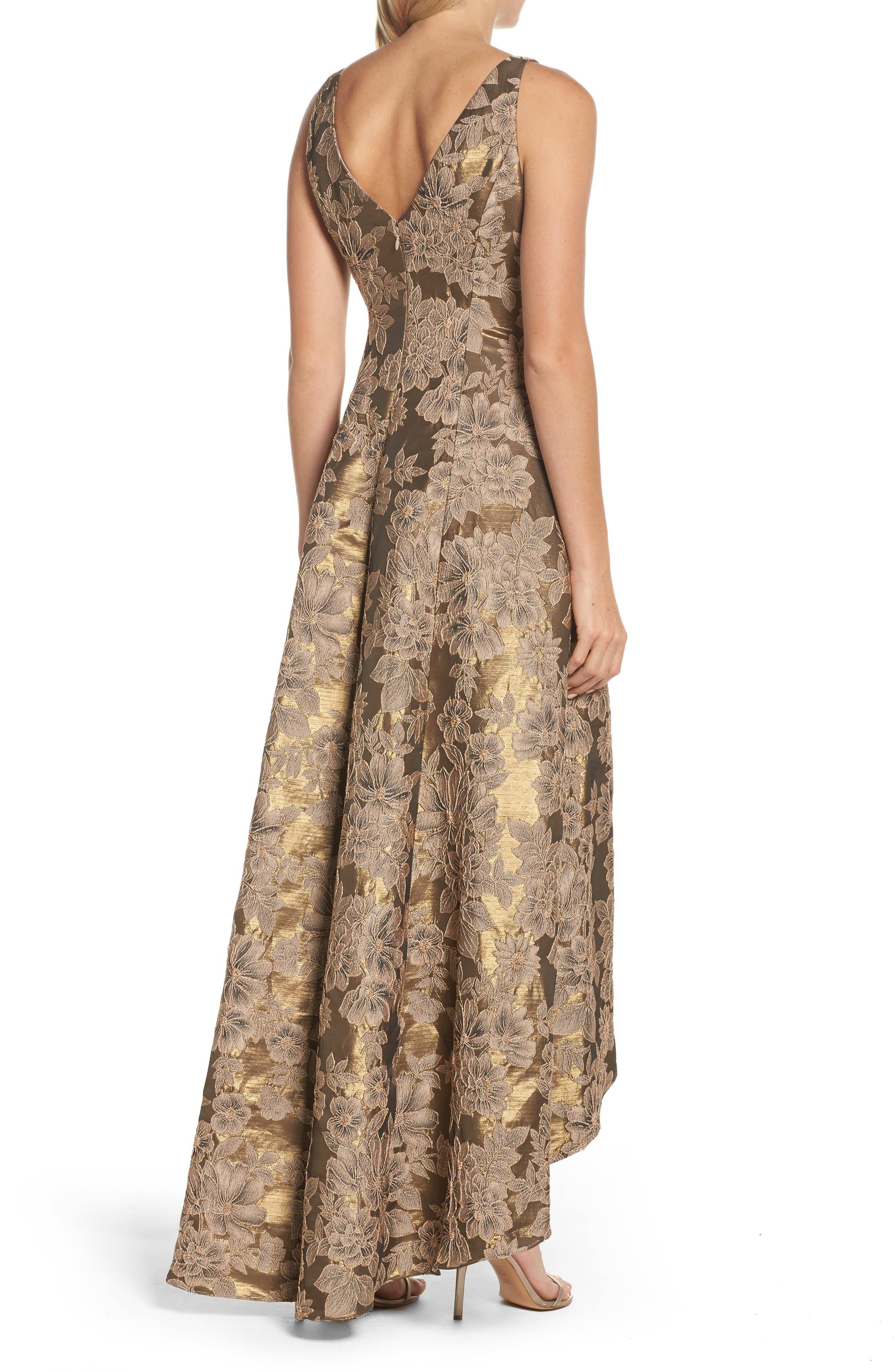 Embellished Taffetta High/Low Gown,                             Alternate thumbnail 2, color,