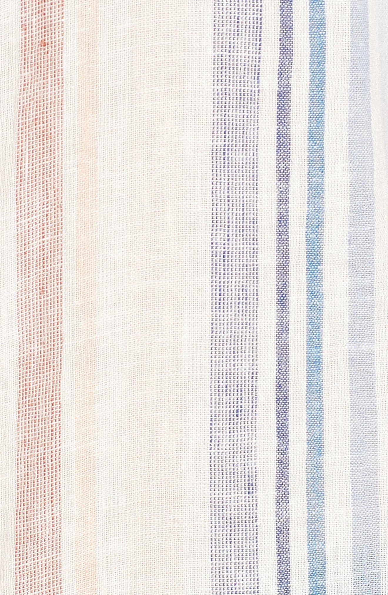 Multistripe Tie Front Top,                             Alternate thumbnail 6, color,                             400