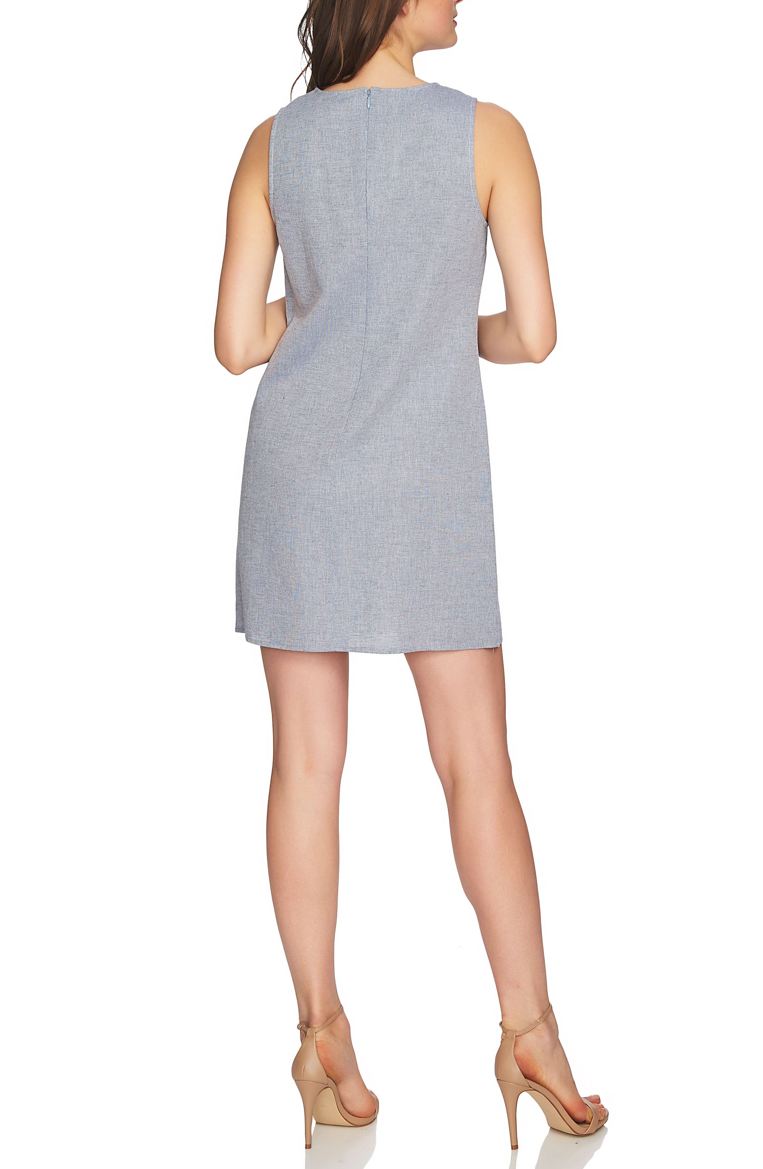 Arlington Sleeveless Embroidered Shift Dress,                             Alternate thumbnail 2, color,                             420