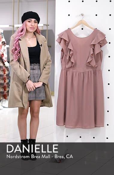 Ruffle Sleeve Fit & Flare Dress, sales video thumbnail