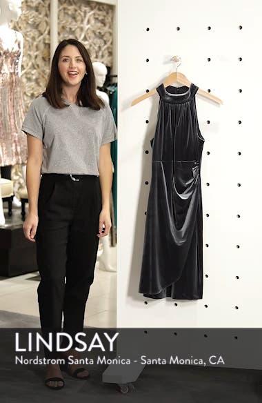 Draped Velvet Cocktail Dress, sales video thumbnail