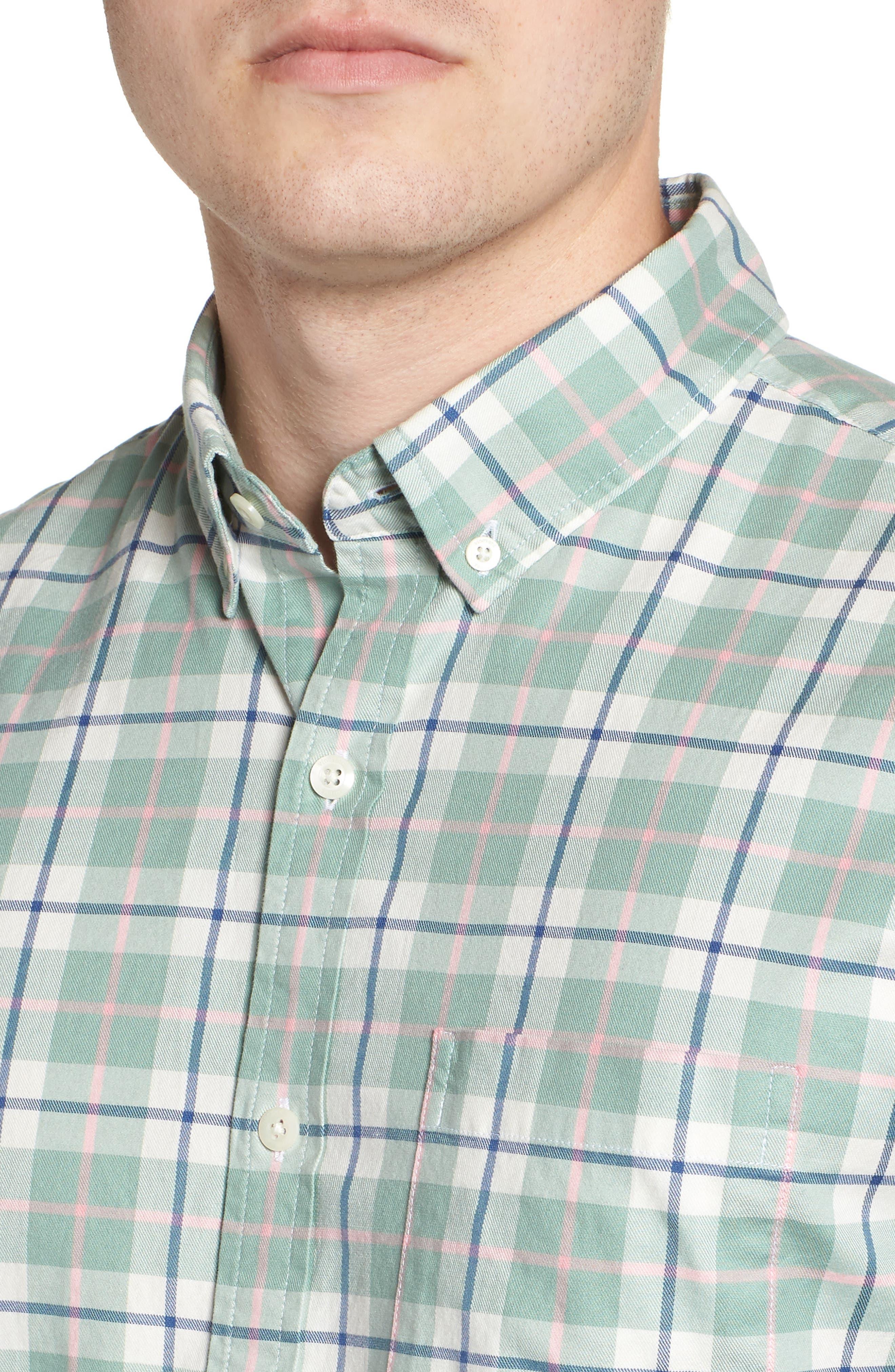 Riverbank Regular Fit Plaid Sport Shirt,                             Alternate thumbnail 2, color,                             DESERT GREEN