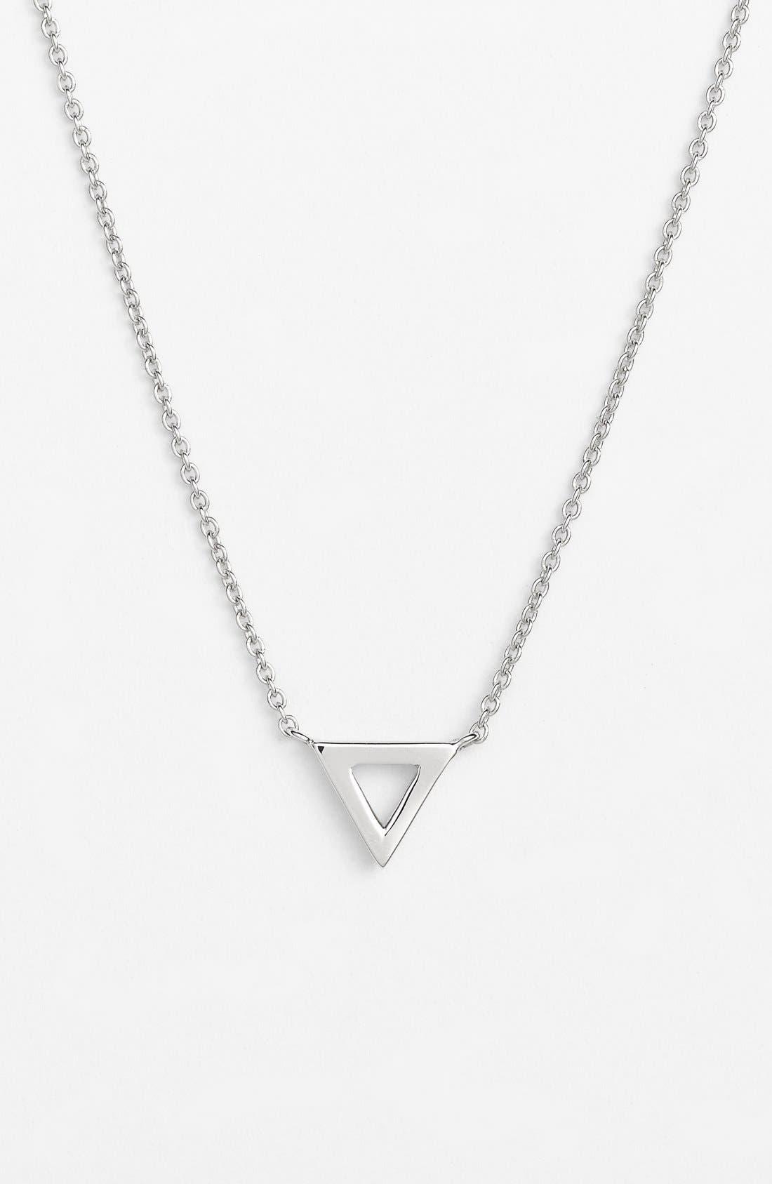 Triangle Pendant Necklace,                         Main,                         color, 710
